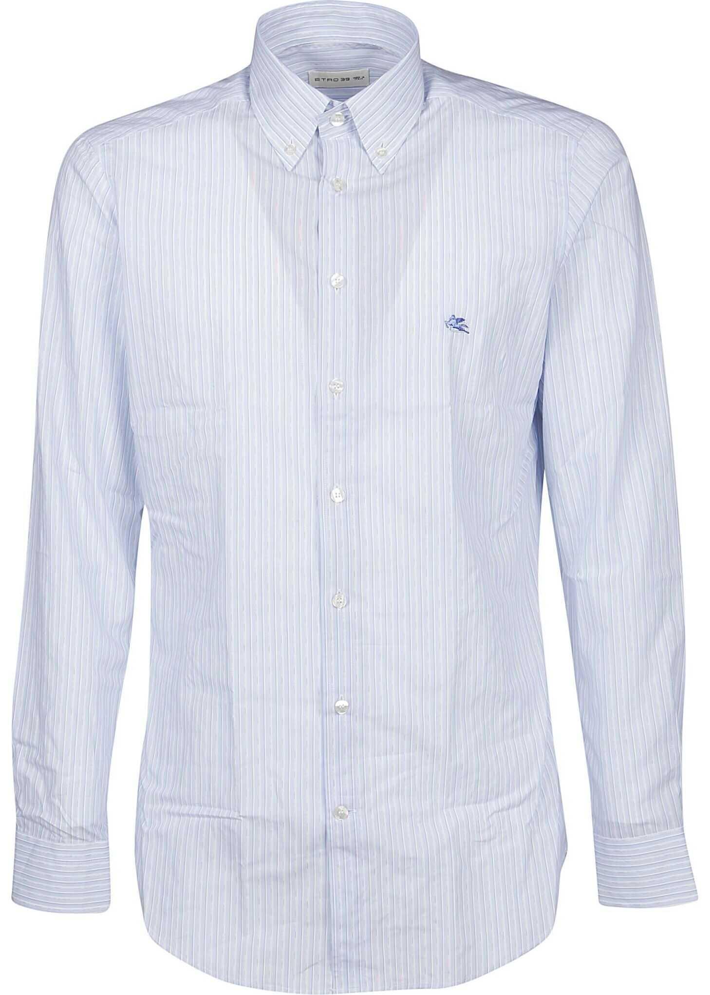 ETRO Cotton Shirt LIGHT BLUE