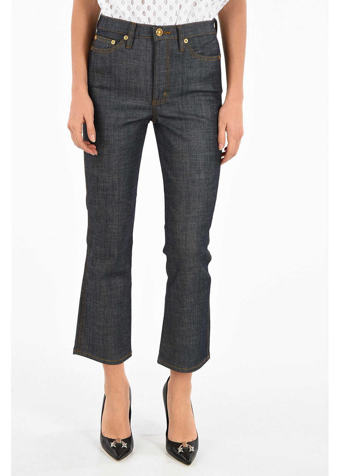 Tory Burch 20cm Stretch Denim Jeans BLUE