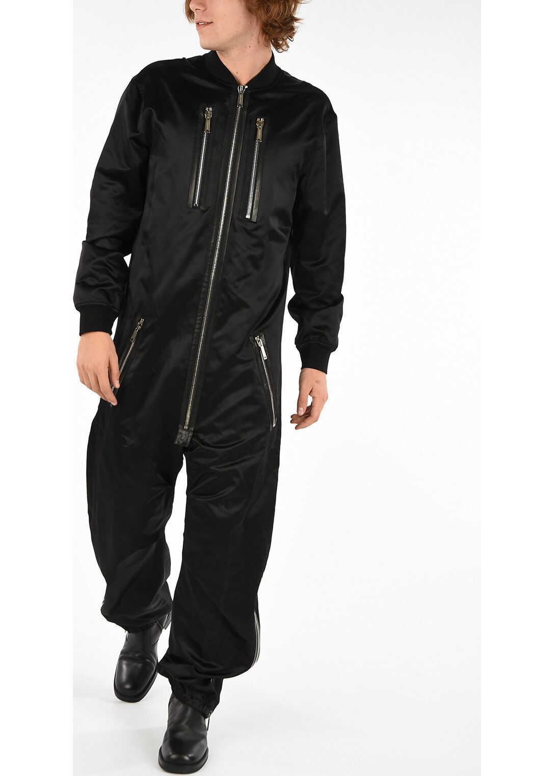 DSQUARED2 Jumpsuit with Embroideries BLACK