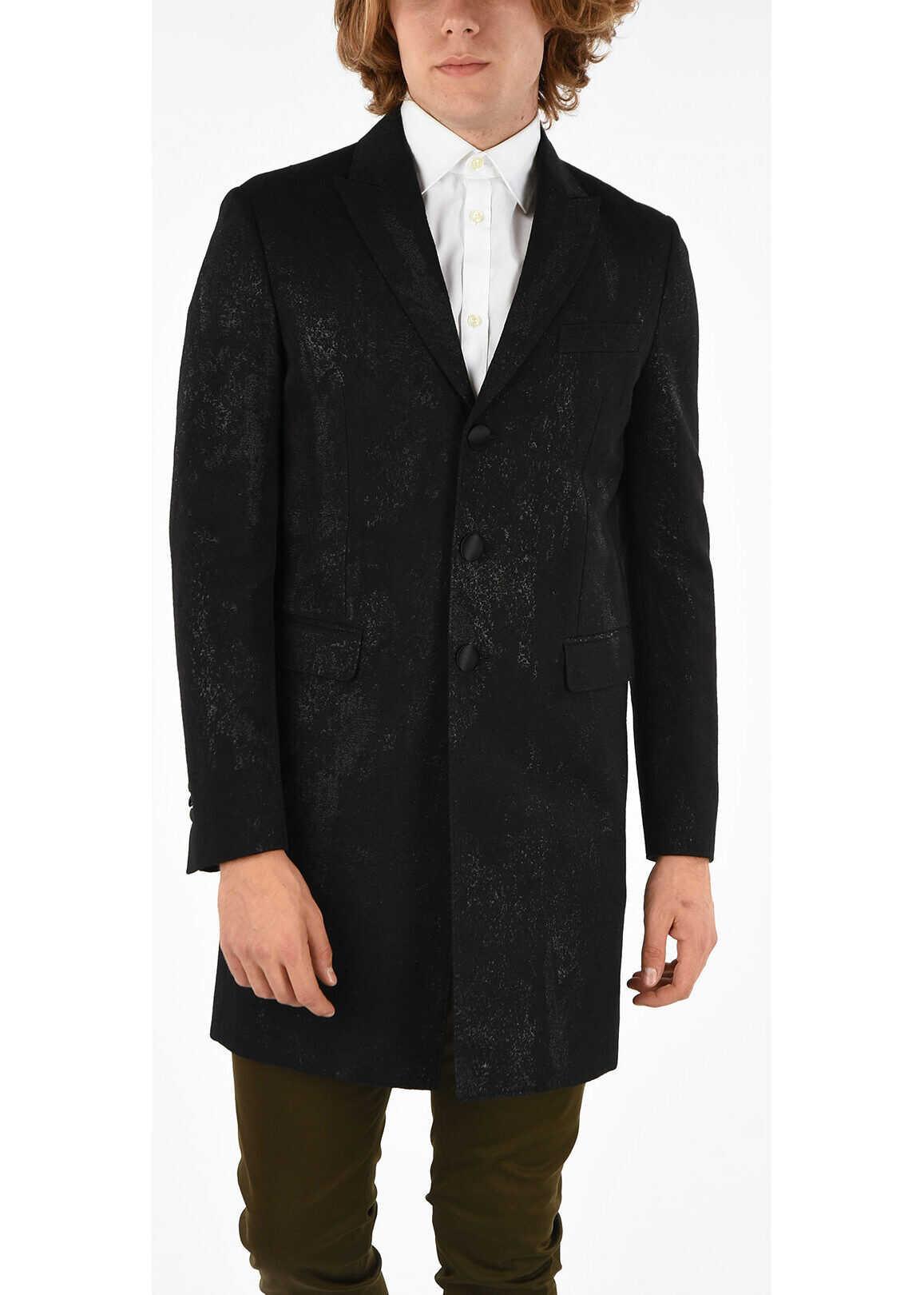 DSQUARED2 3 Button Coat BLACK