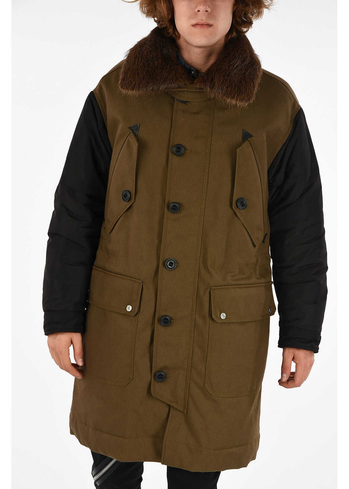 DSQUARED2 Coat with Fur BROWN