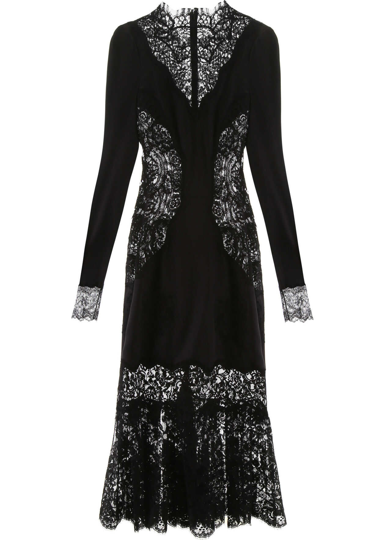 Dolce & Gabbana Satin And Lace Dress NERO