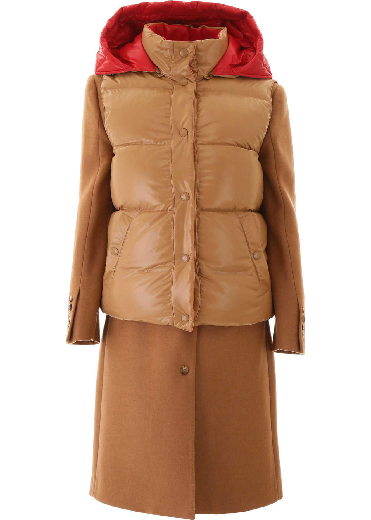 Burberry Coat With Removable Vest BRONZE