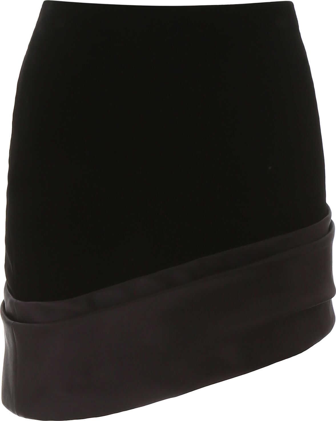 Saint Laurent Asymmetric Mini Skirt NOIR