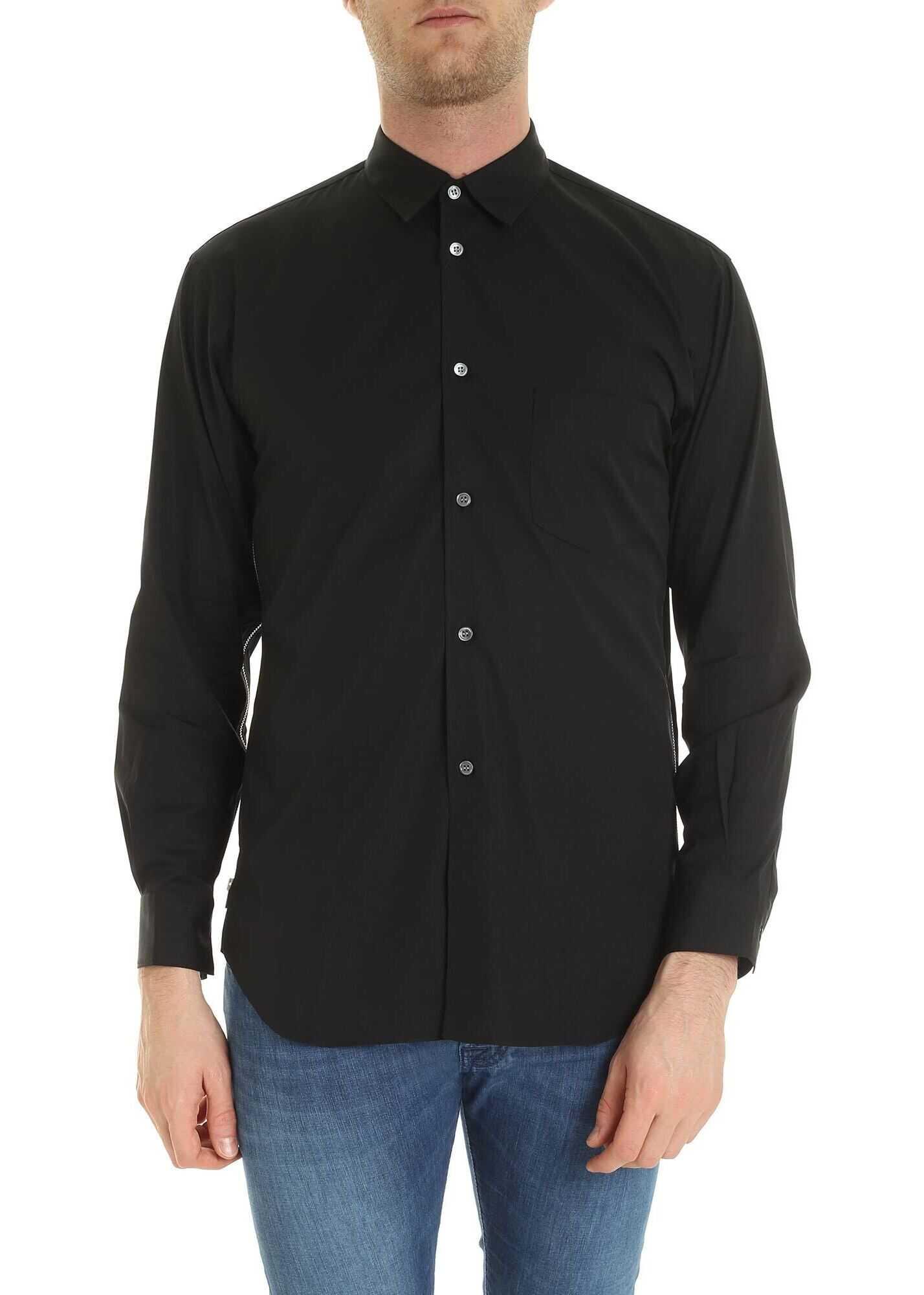 Side Zip Shirt In Black thumbnail