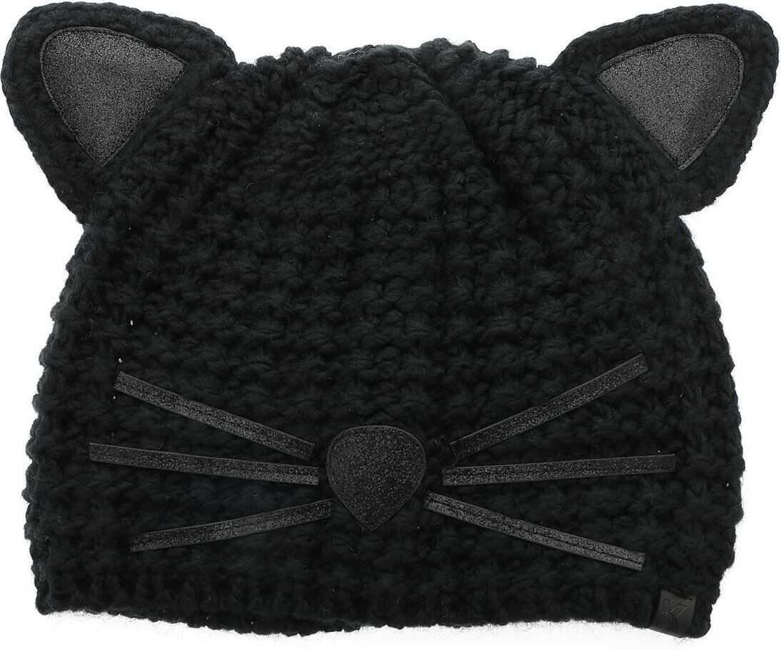 Karl Lagerfeld Luxury Choupette Hat In Black Black