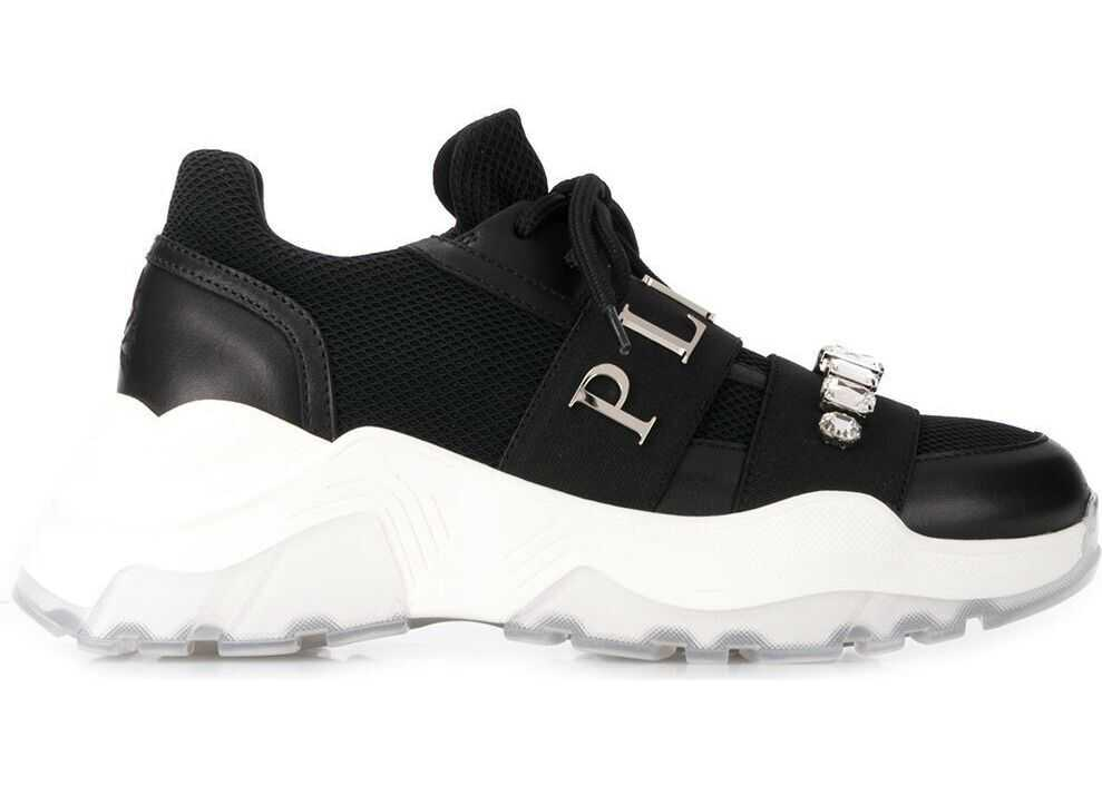 Philipp Plein Leather Sneakers BLACK