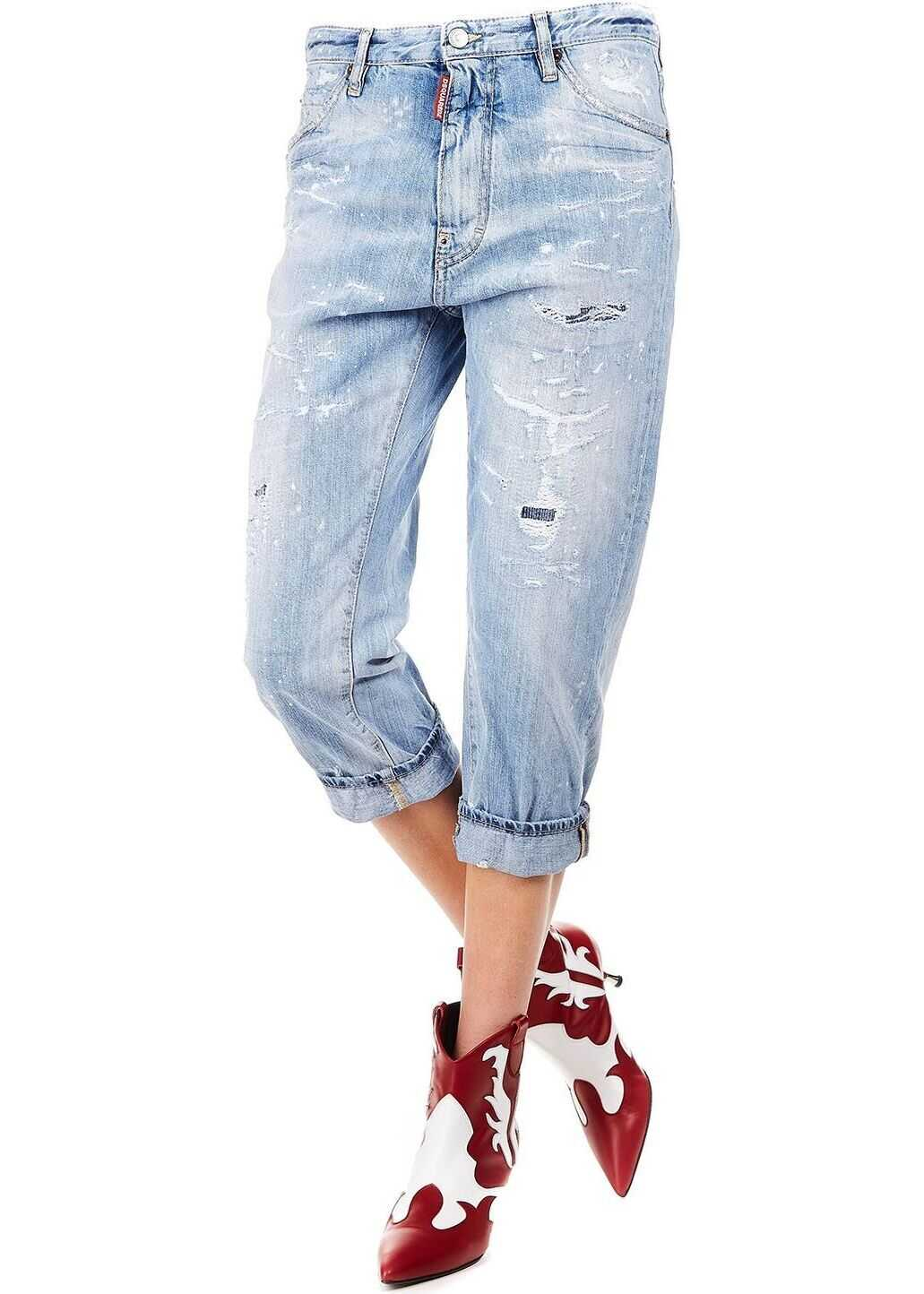 DSQUARED2 Cotton Jeans BLUE