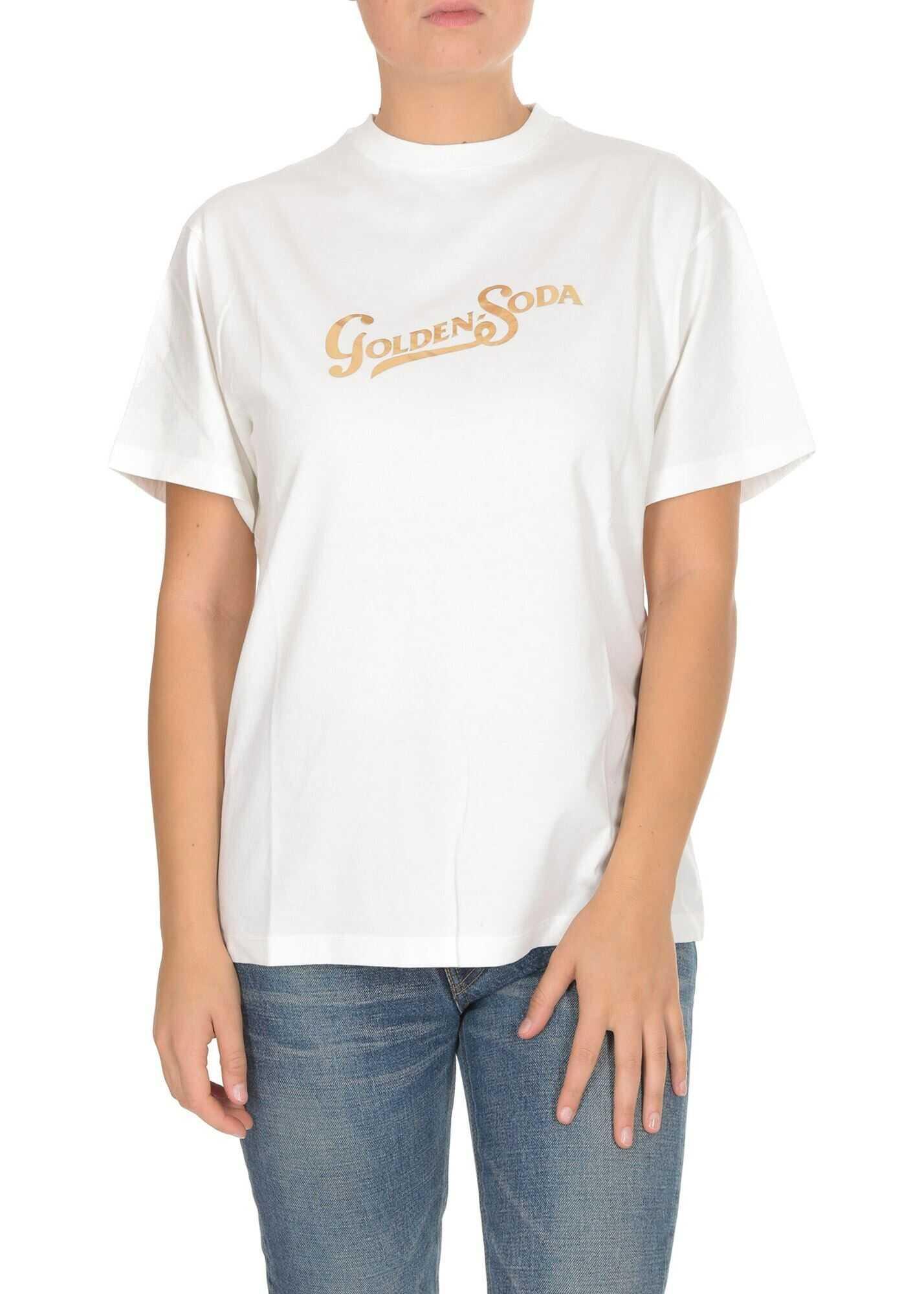 Golden Goose Golden Soda T-Shirt In White White