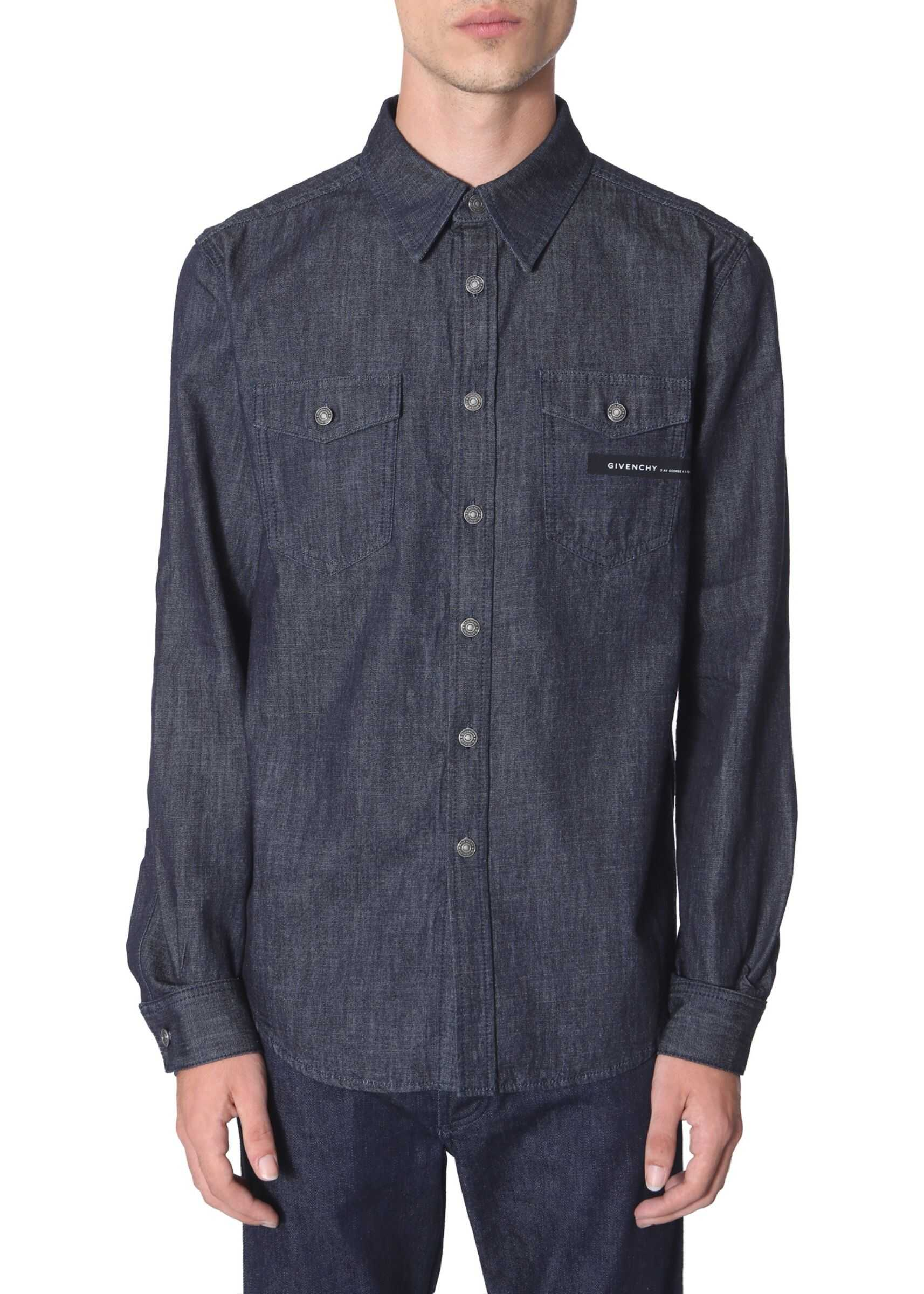 Givenchy Shirt With Logo BLUE