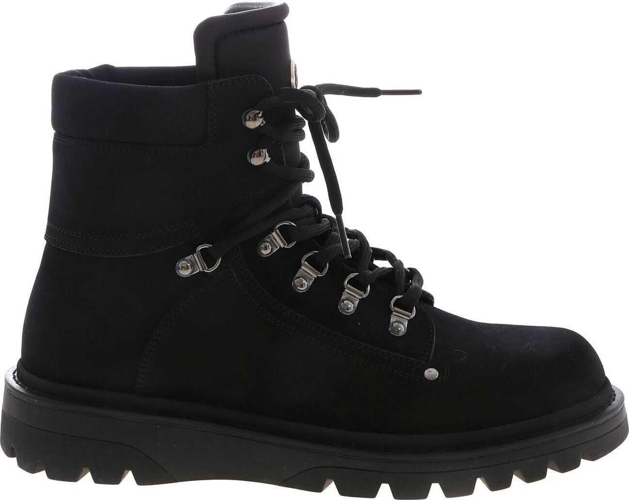 Moncler Egide Ankle Boots In Black Black
