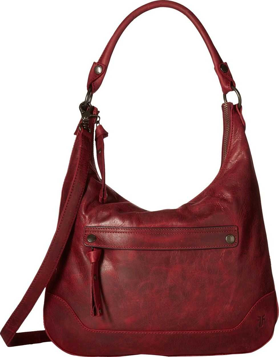 Frye Melissa Zip Hobo Sangria Smooth Pull Up