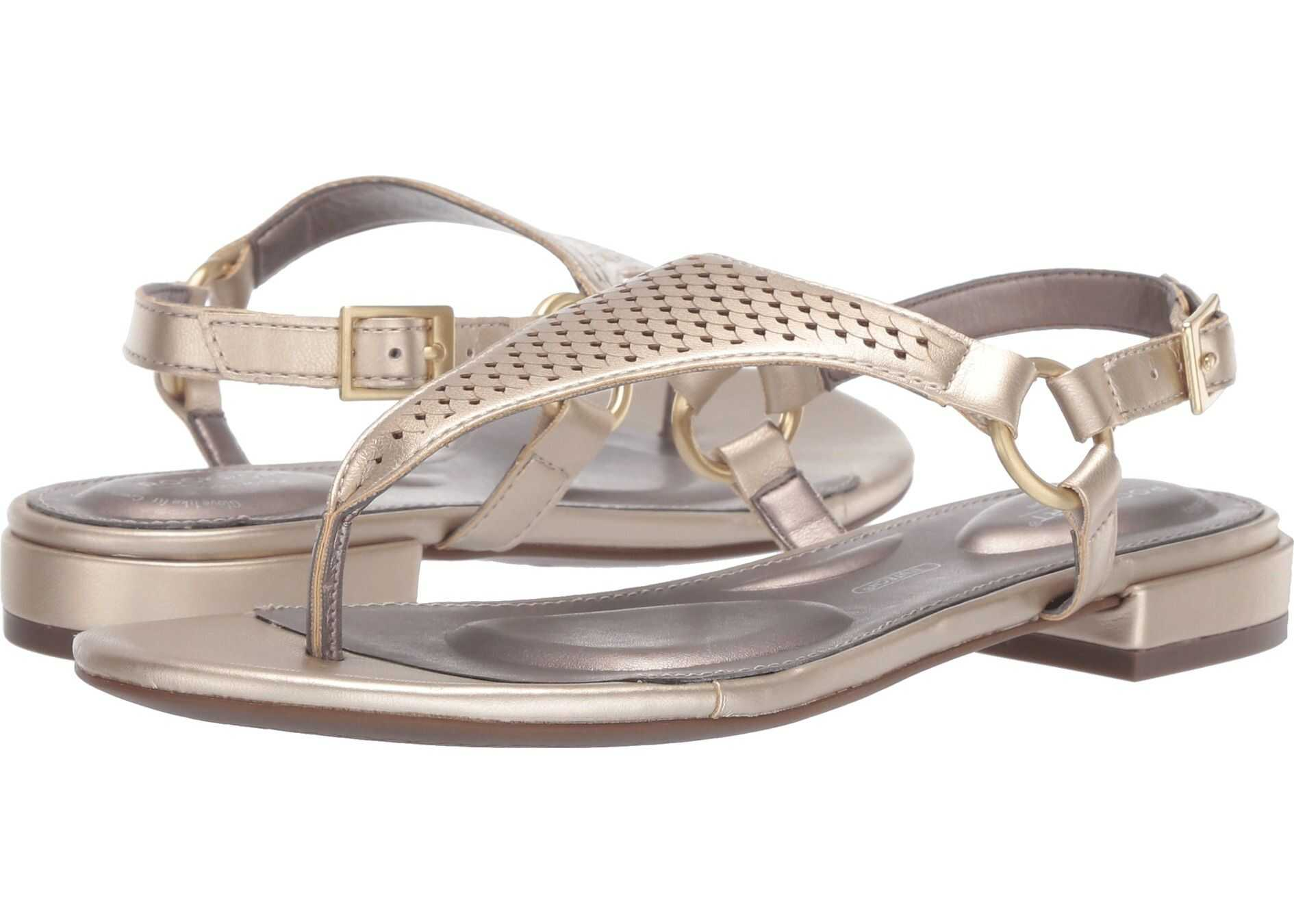 Rockport Total Motion Zosia Thong Gold