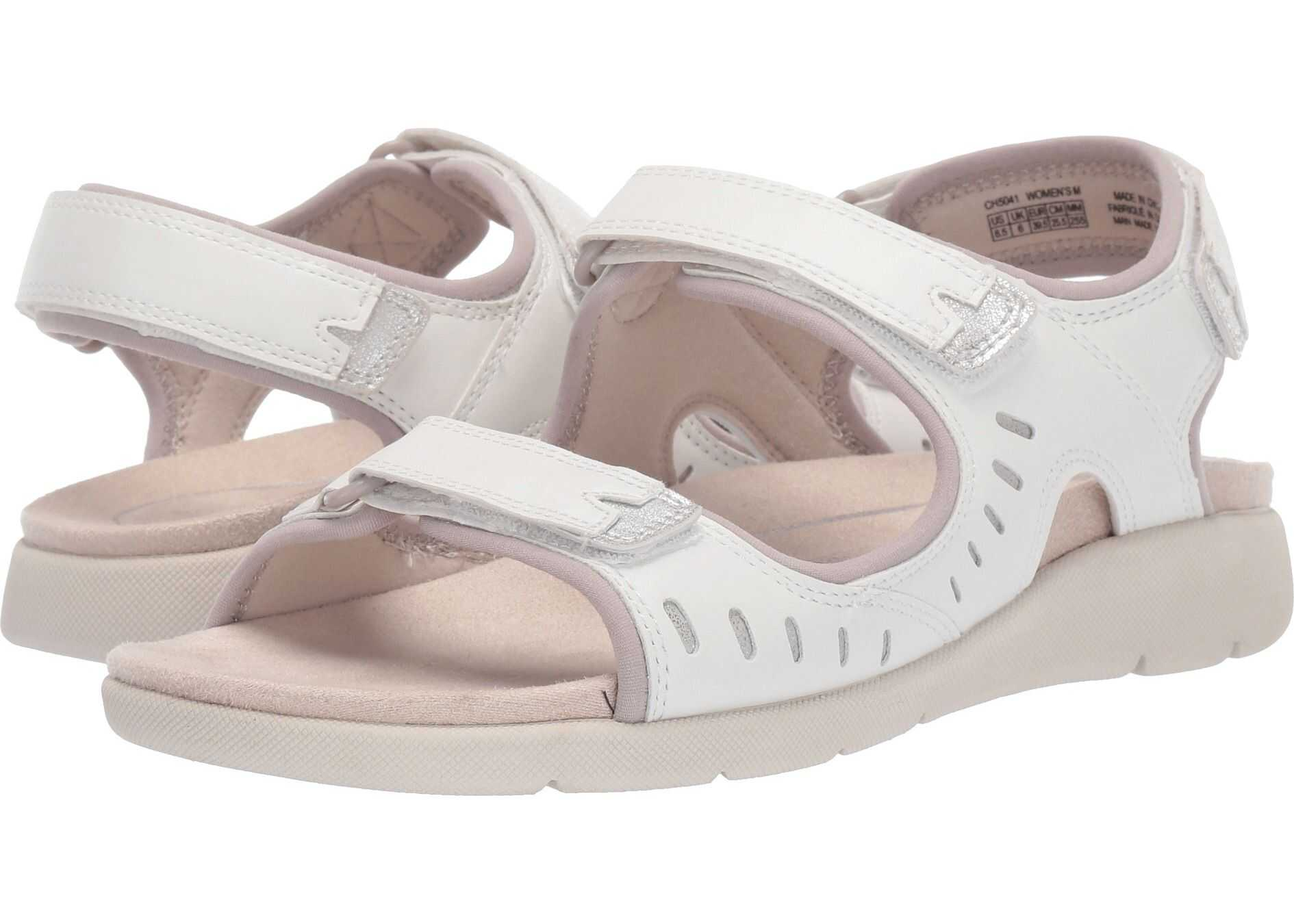 Rockport Eileen Three Strap White