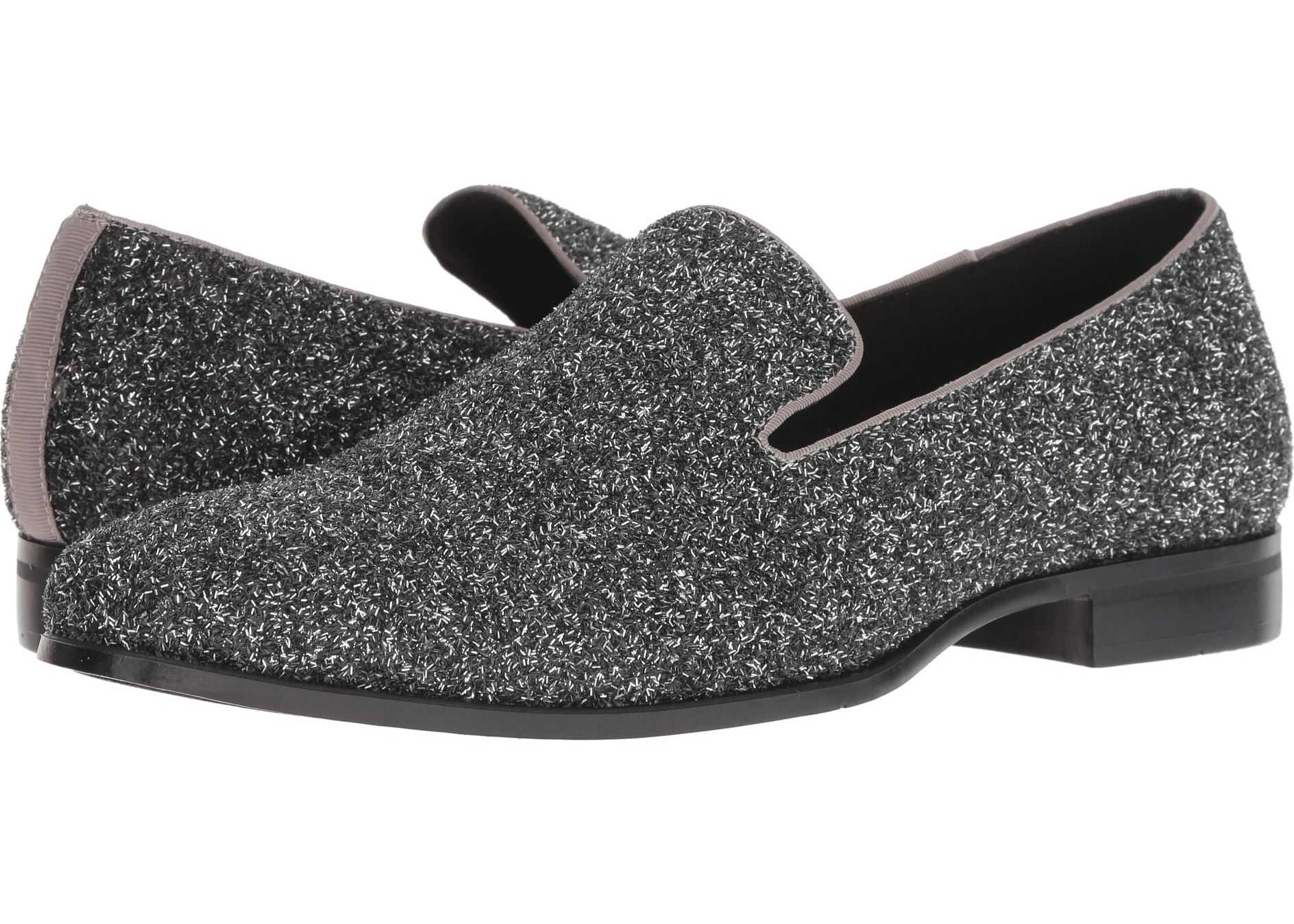 Stacy Adams Swank Glitter Loafer Silver