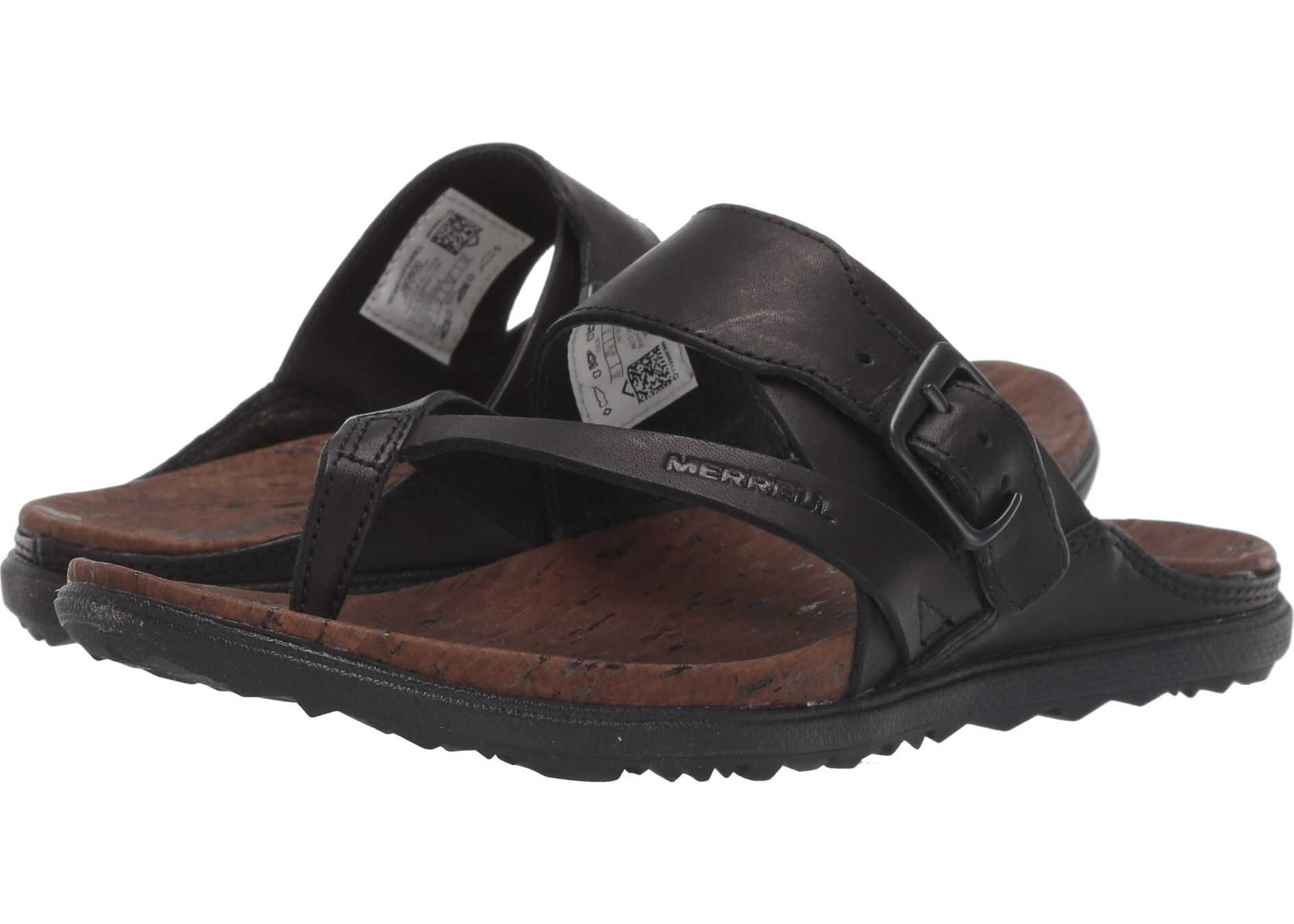 Merrell Around Town Luxe Buckle Thong Black
