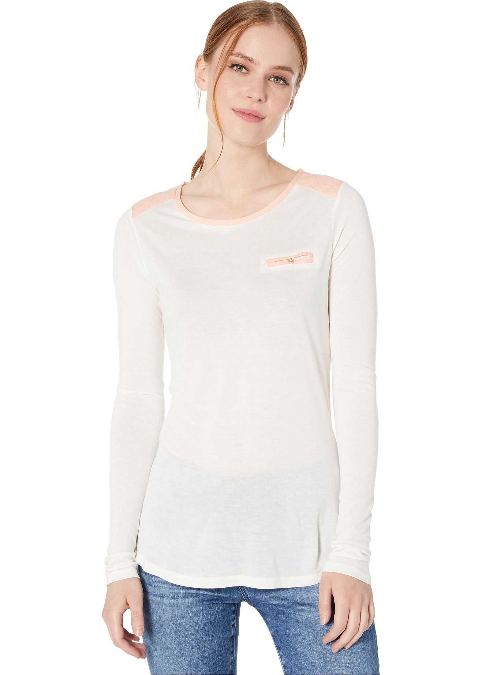 U.S. POLO ASSN. Long Sleeve Pocket T-Shirt Marshmallow