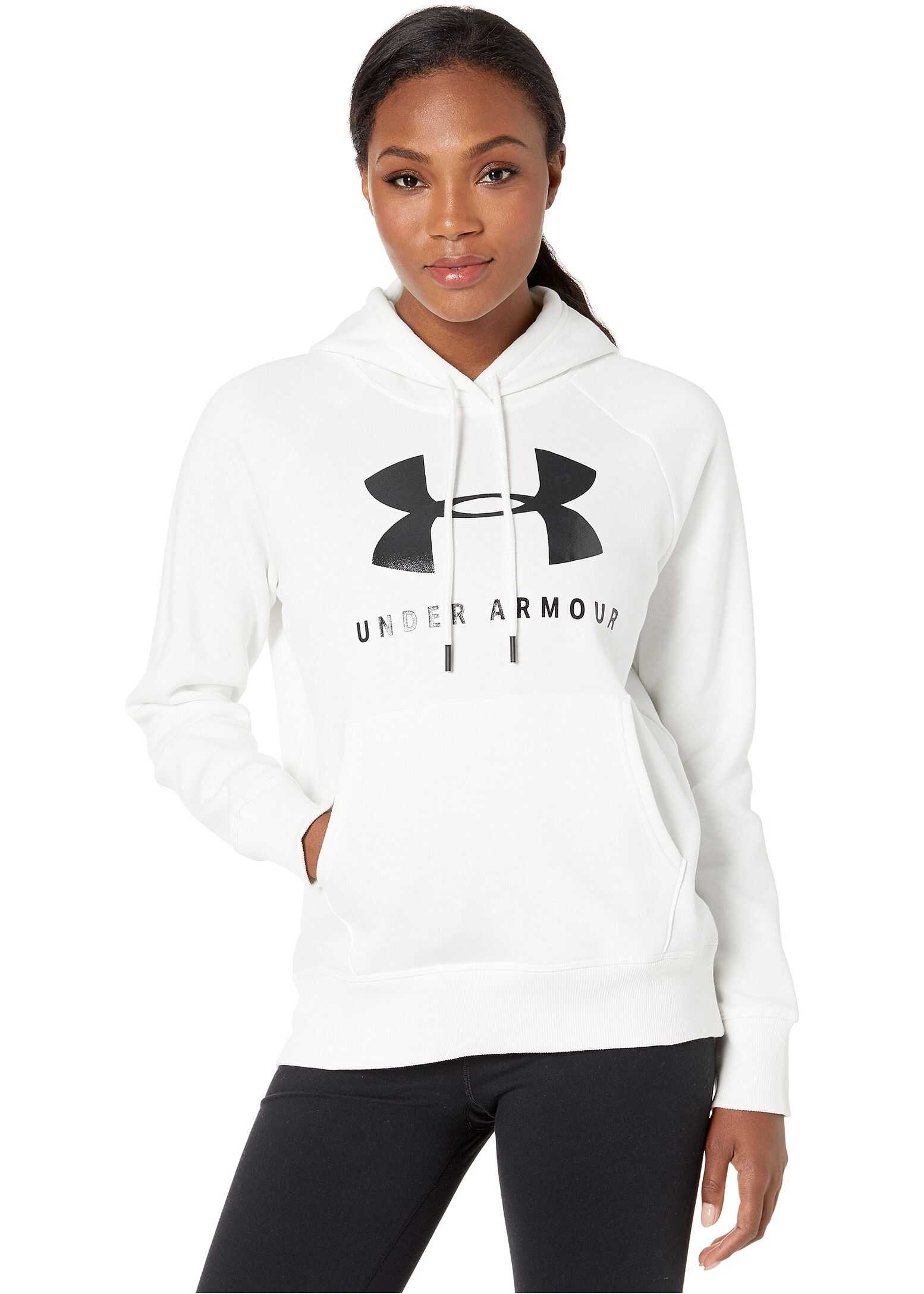 Under Armour Rival Fleece Sportstyle Graphic Hoodie Onyx White/Black