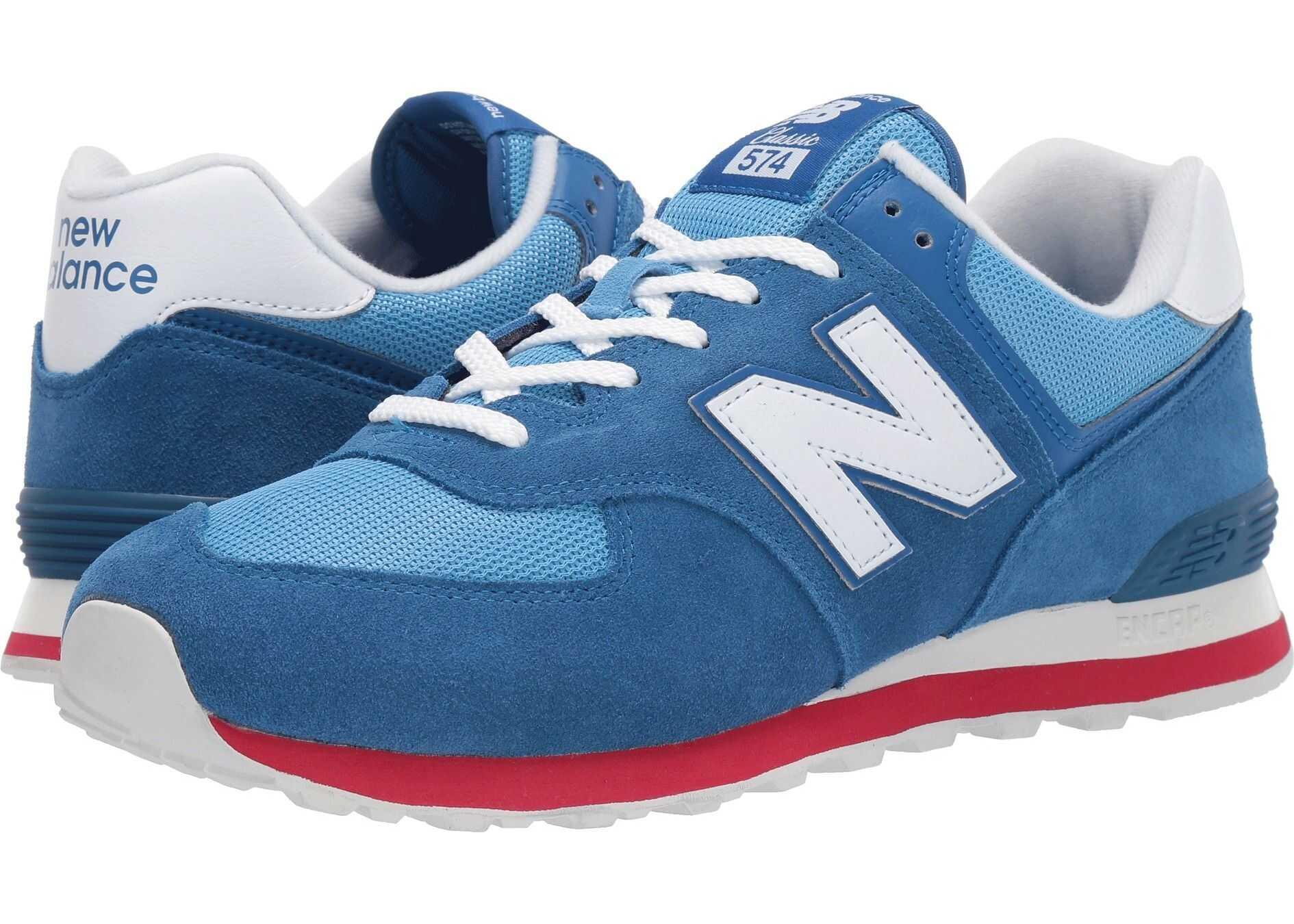 New Balance Classics ML574v2 Classic Blue/Team Red