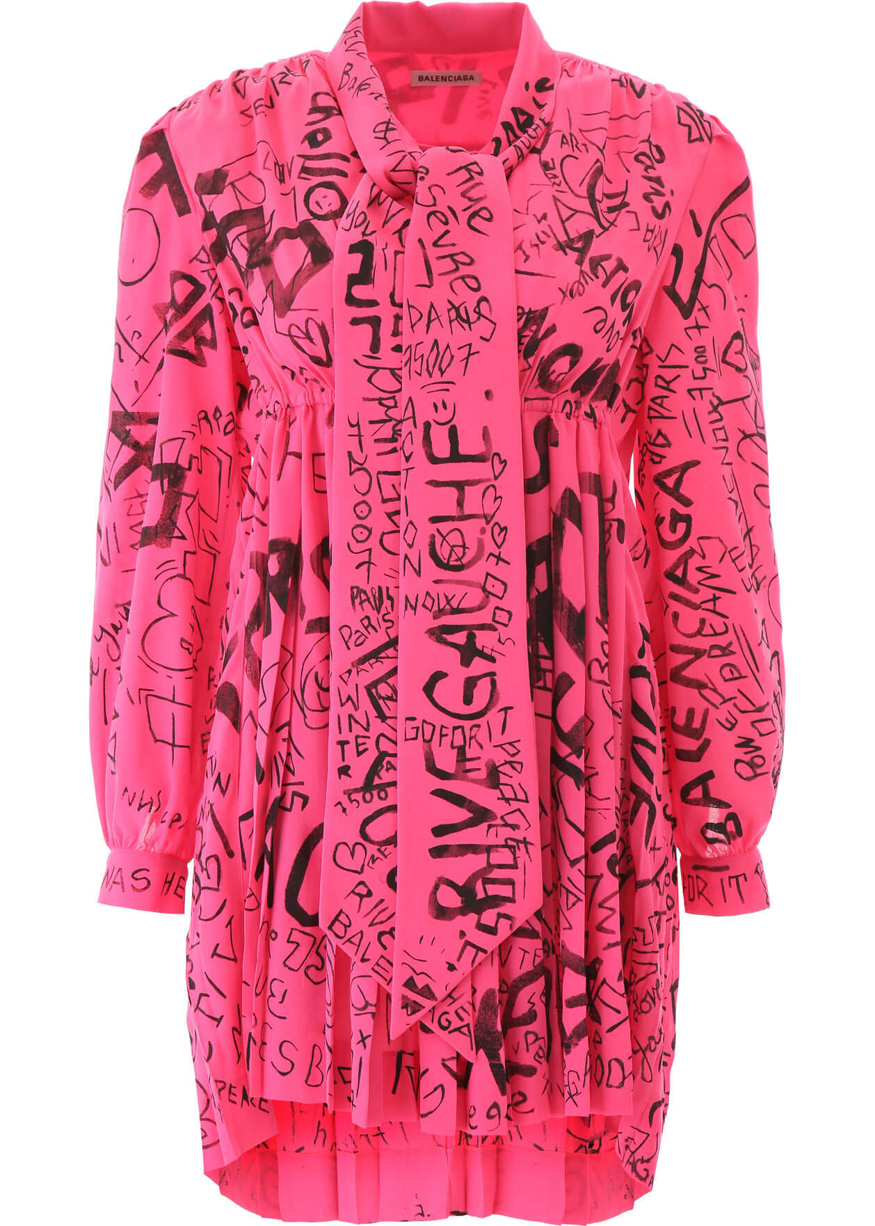 Graffiti Print Dress thumbnail