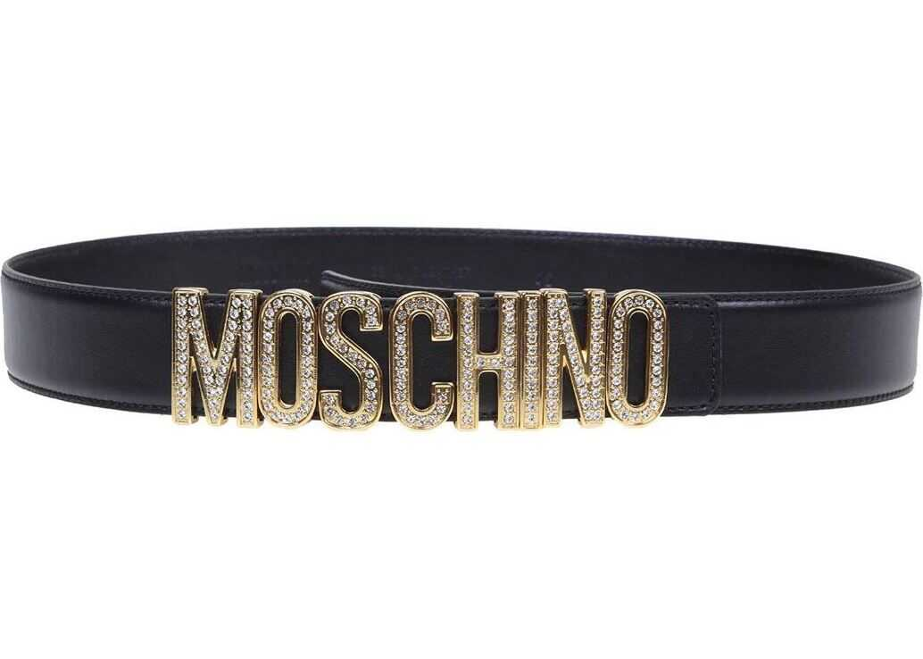 Moschino Moschino Belt In Black Leather Black