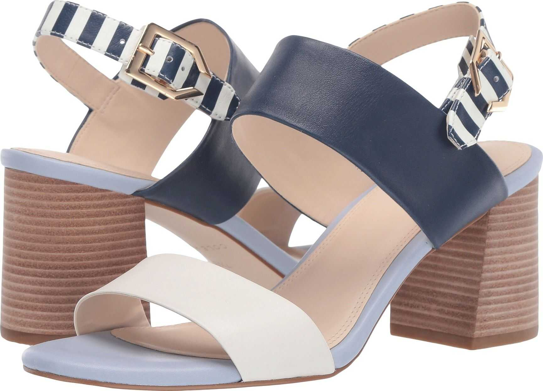Cole Haan 65 mm G.OS Avani City Sandal Ivory/Zen Blue/Marine Blue/Marine Blue Stripe Print Leather