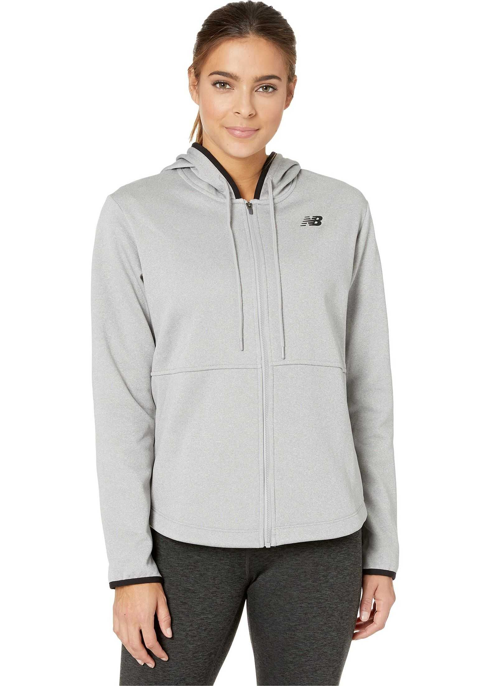 New Balance Relentless Fleece Full Zip Athletic Grey