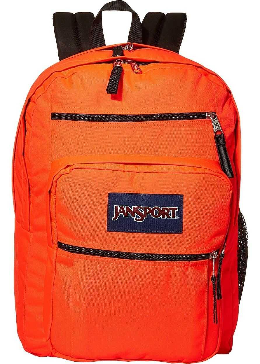 JanSport Big Student Fluorescent Red