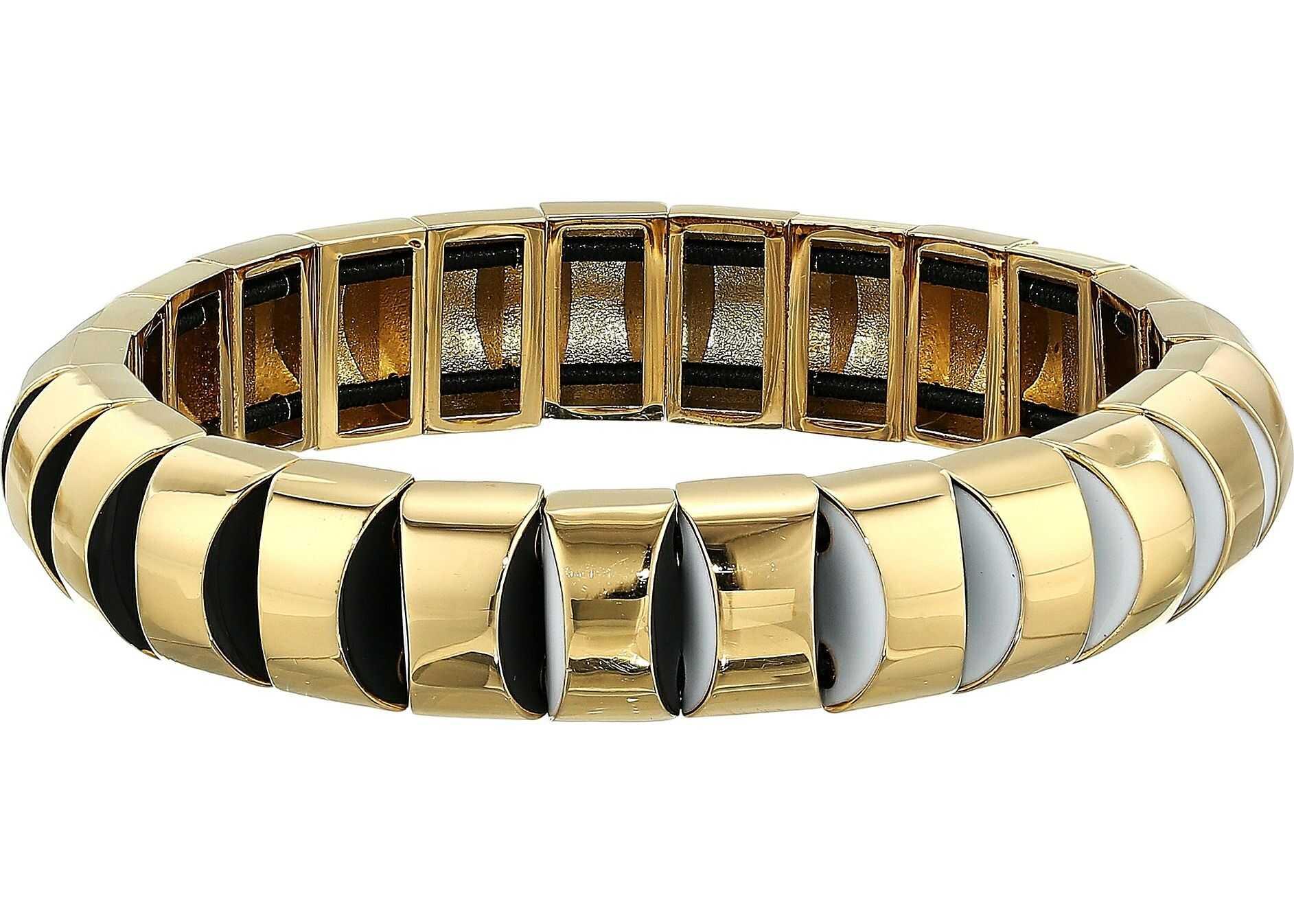 Kate Spade New York Sliced Scallops Small Metal Stretch Bracelet Neutral Multi