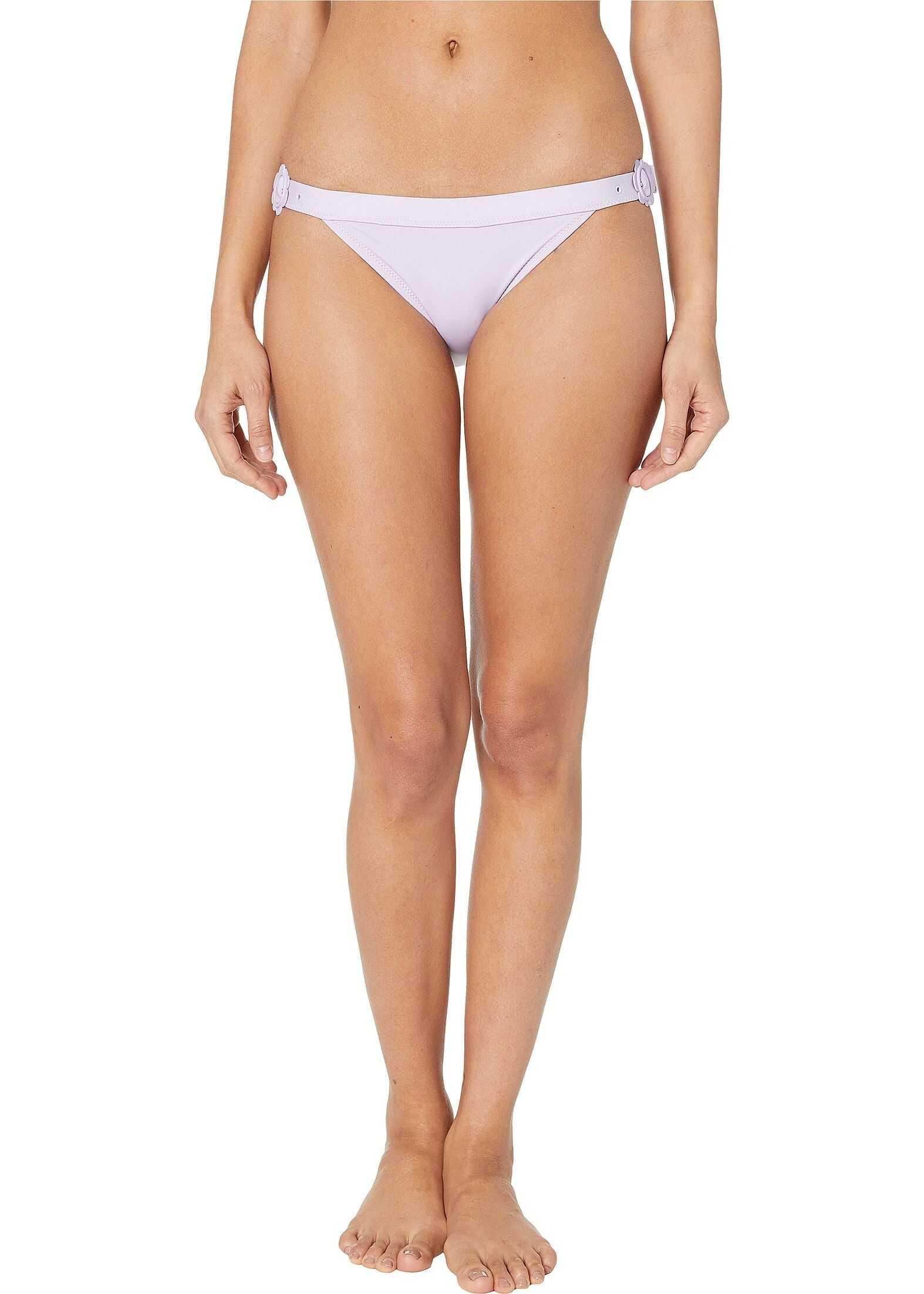 Kate Spade New York Daisy Buckle Bikini Bottoms Frozen Lilac