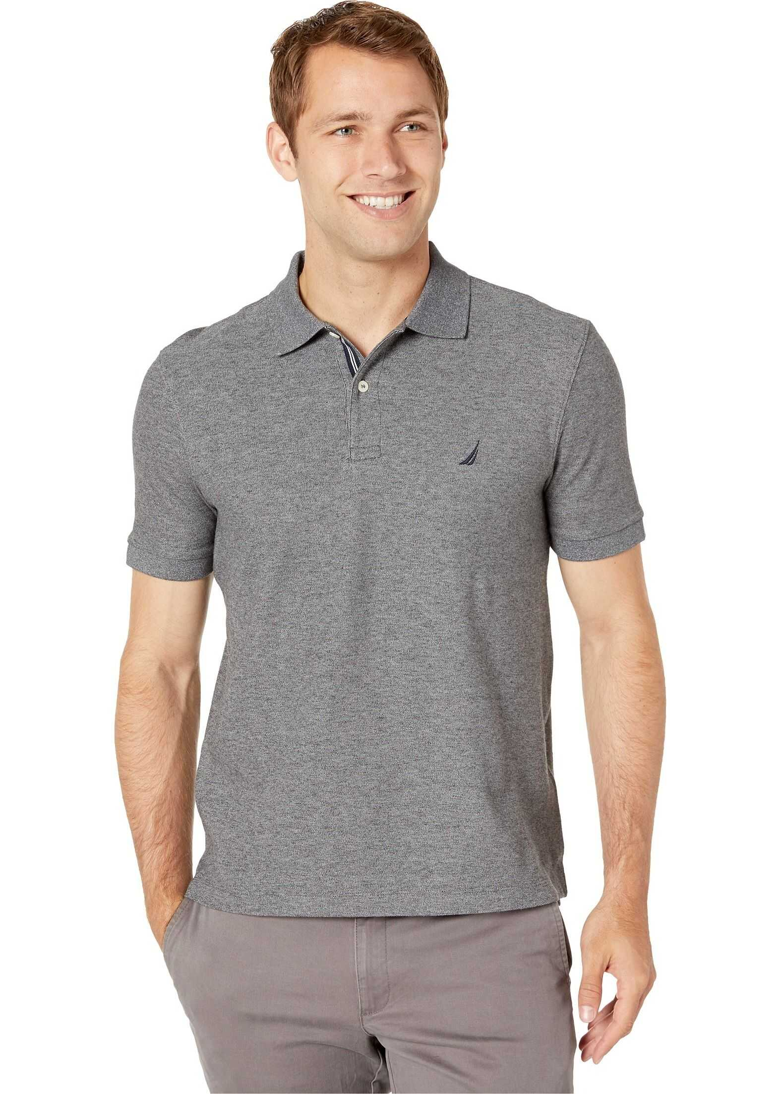 Nautica Solid FCA Deck Shirt Charcoal Heather