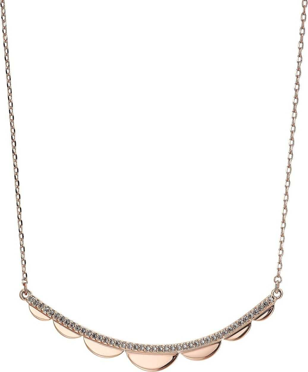 Kate Spade New York Slender Scallops Delicate Necklace Clear/Rose Gold