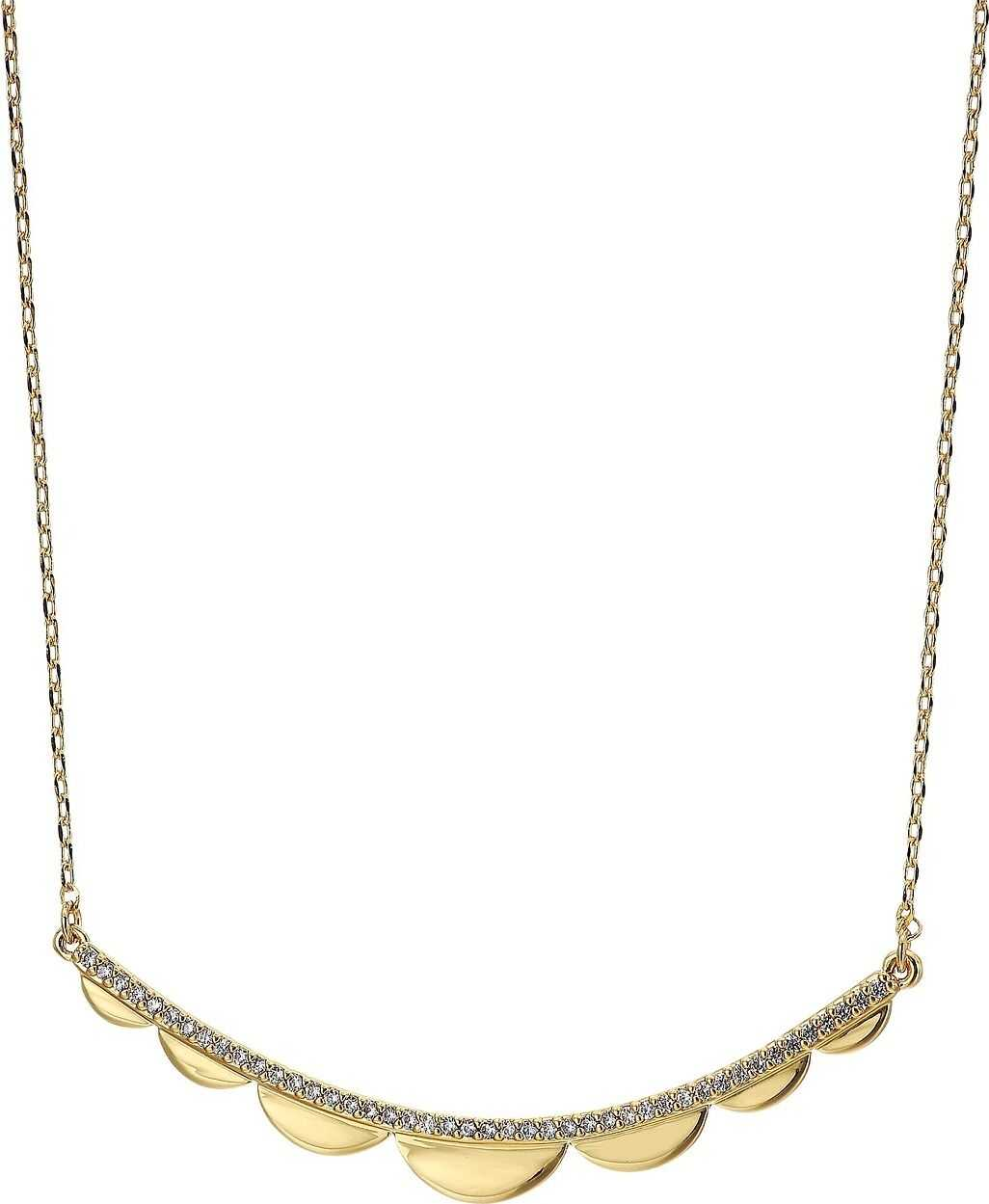 Kate Spade New York Slender Scallops Delicate Necklace Clear/Gold