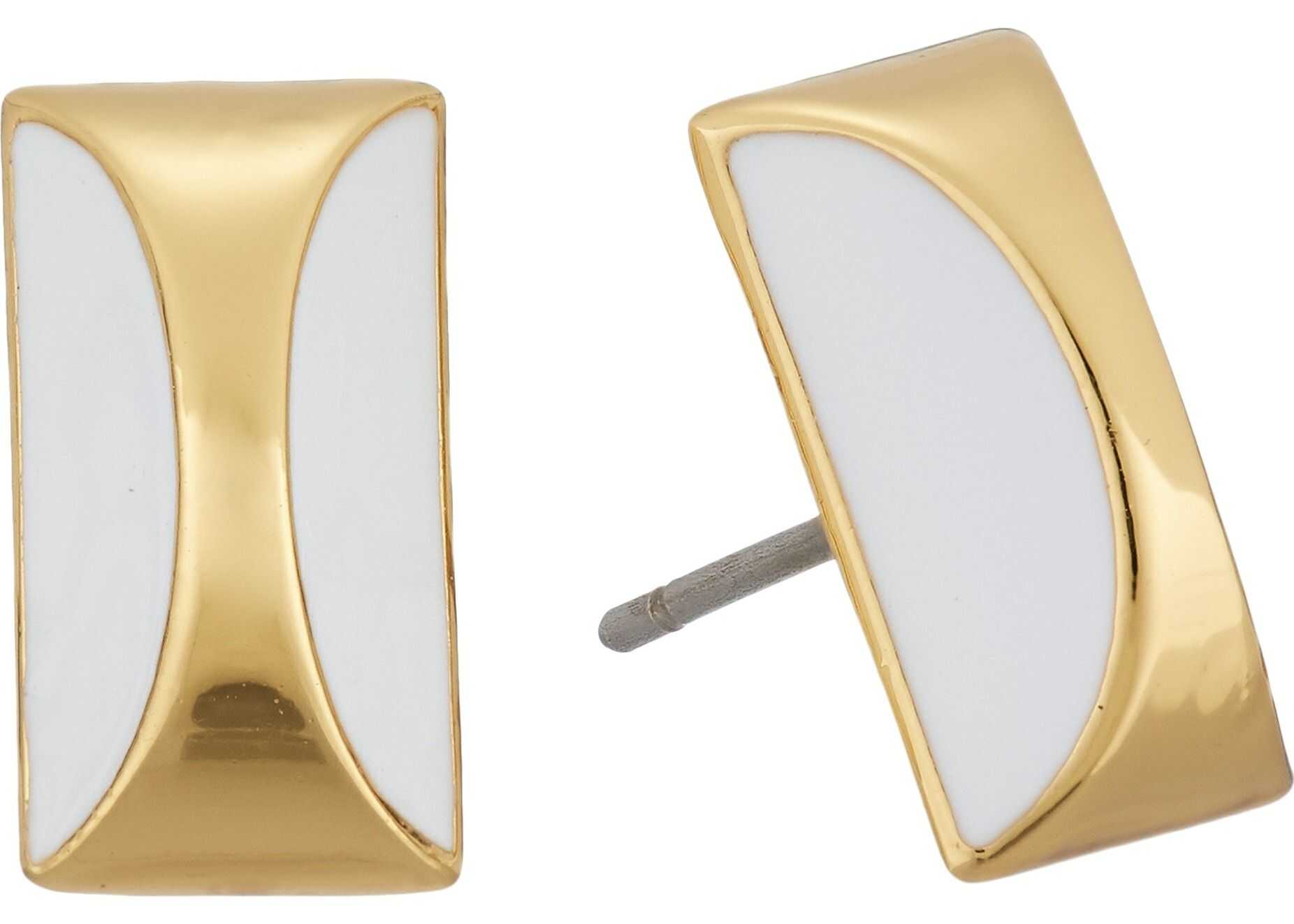 Kate Spade New York Sliced Scallops Studs Earrings White