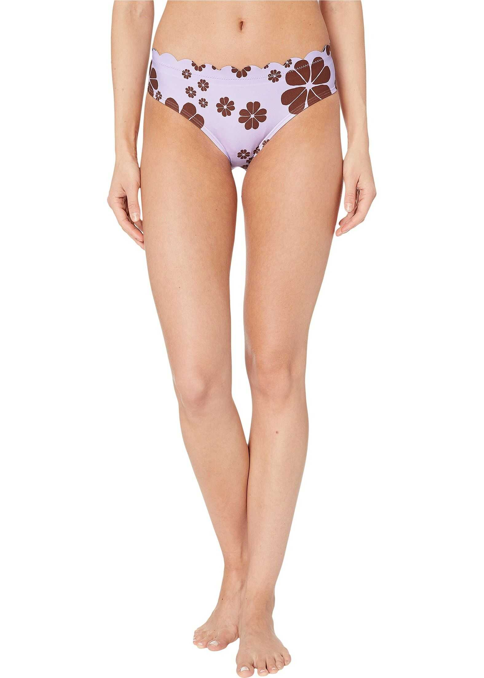 Kate Spade New York Scalloped Hipster Bikini Bottoms Frozen Lilac
