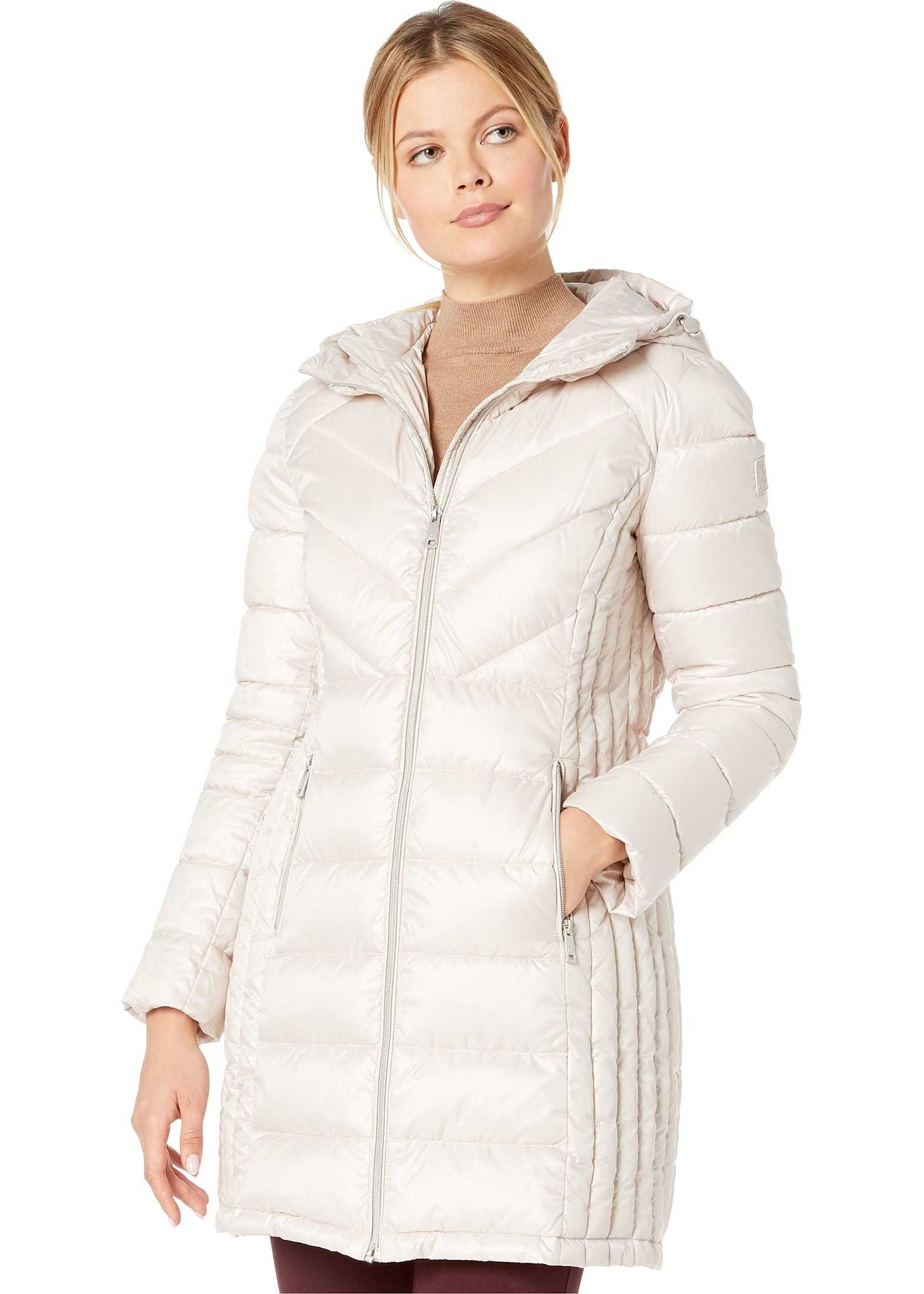 Kenneth Cole New York Zip Front Quilted Packable Frost
