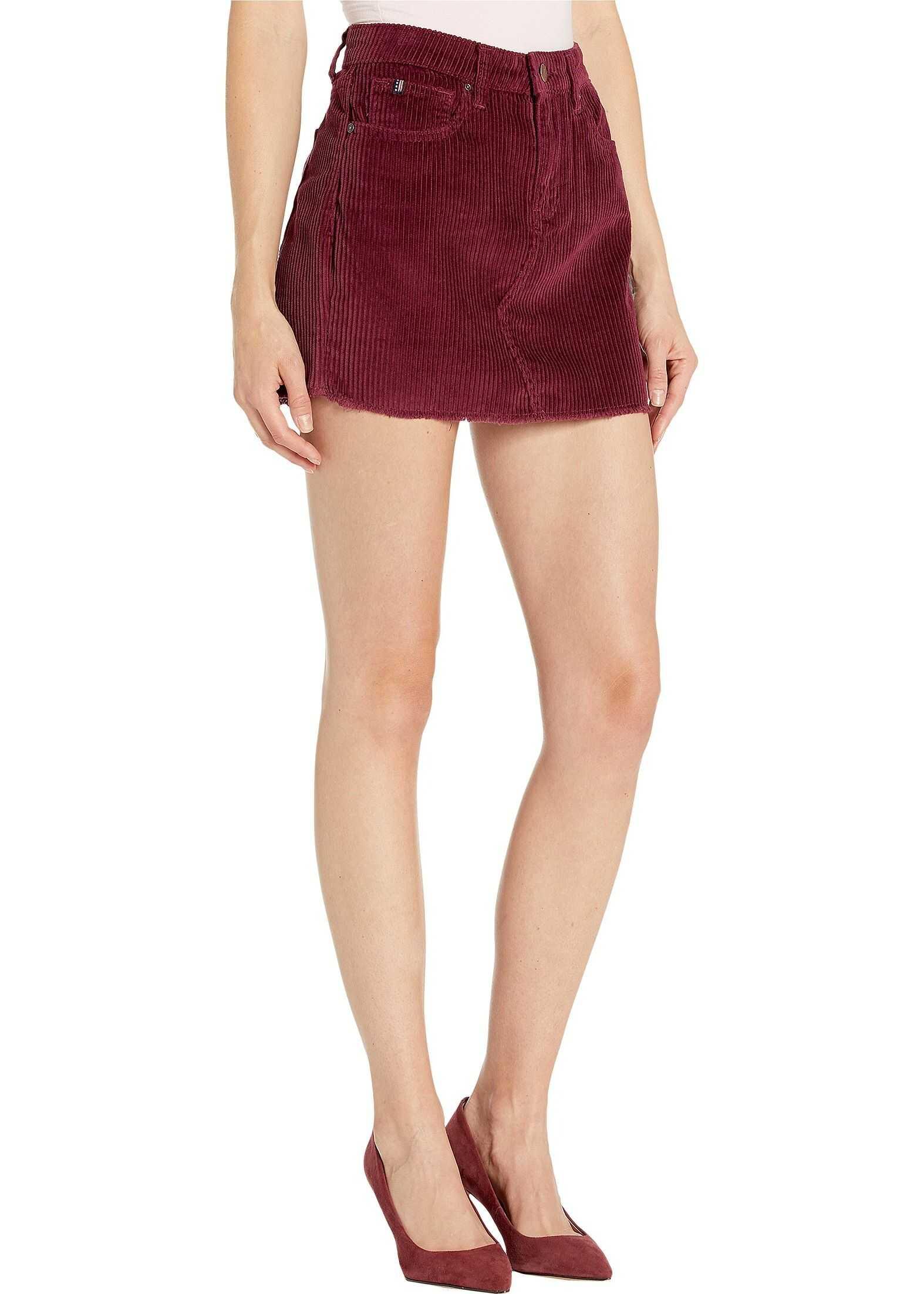 U.S. POLO ASSN. Corduroy Skirt Pinot Noir