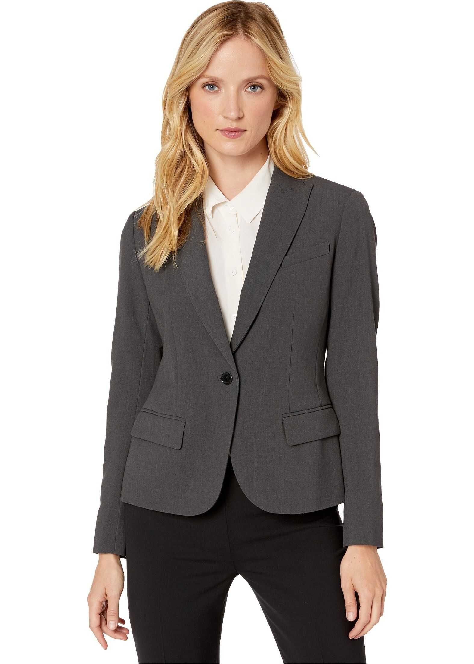 Anne Klein Sabre Stretch One-Button Blazer New Grey