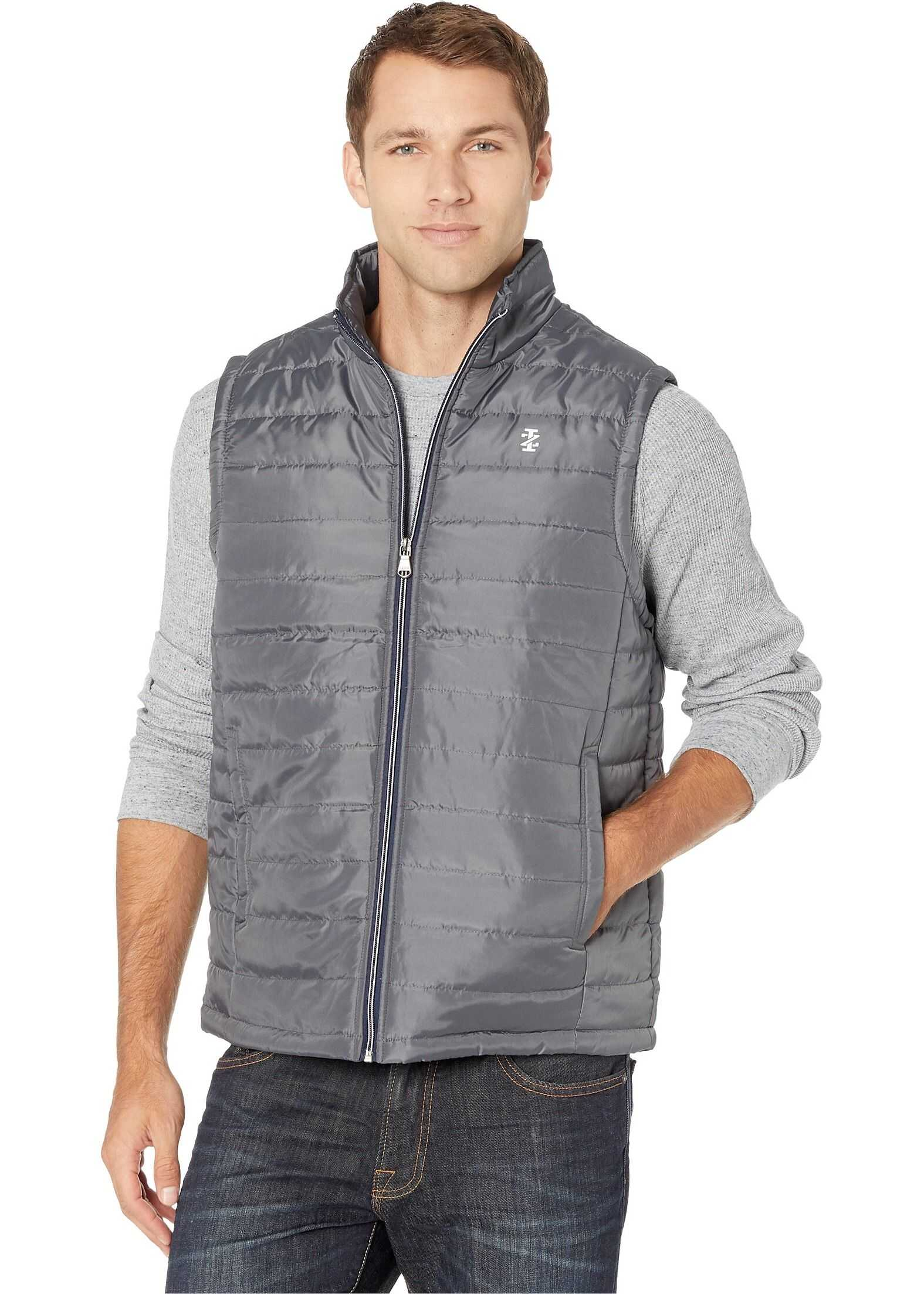 IZOD Quilted Puffer Charcoal
