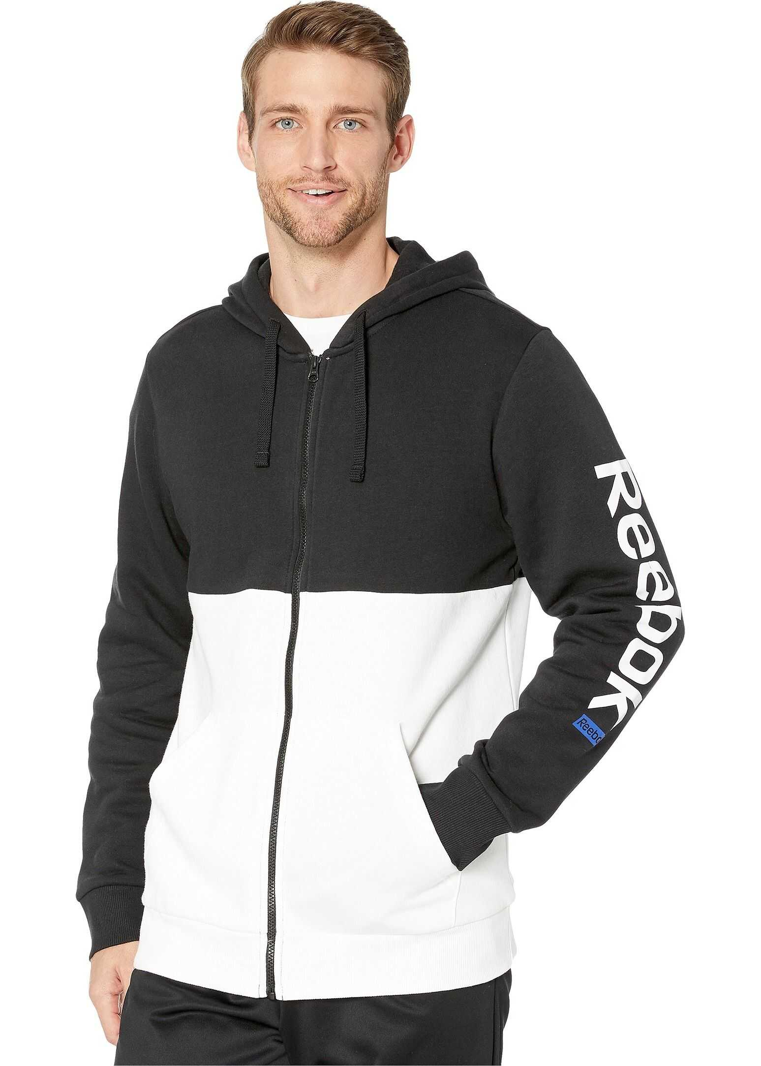 Reebok Training Essentials Full Zip Hoodie White