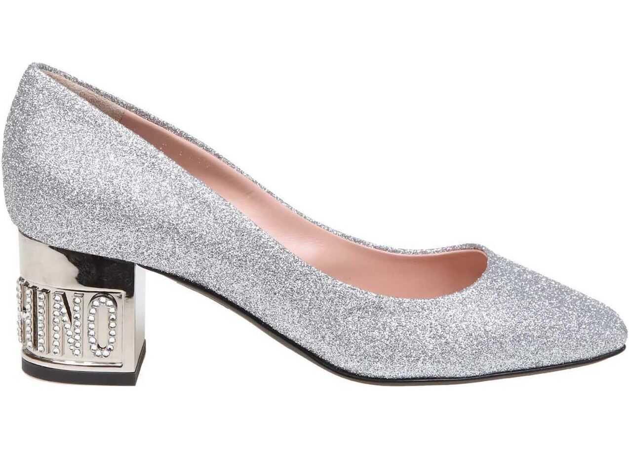 Silver Glitter Pumps thumbnail