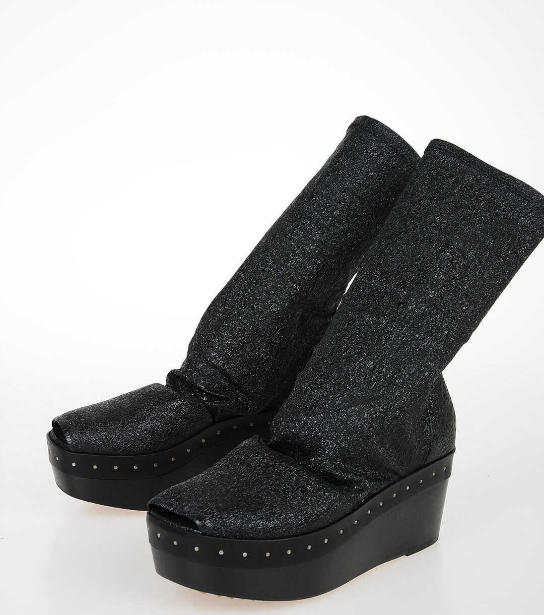 Rick Owens 7cm Leather SOCK SABOT Boots N/A