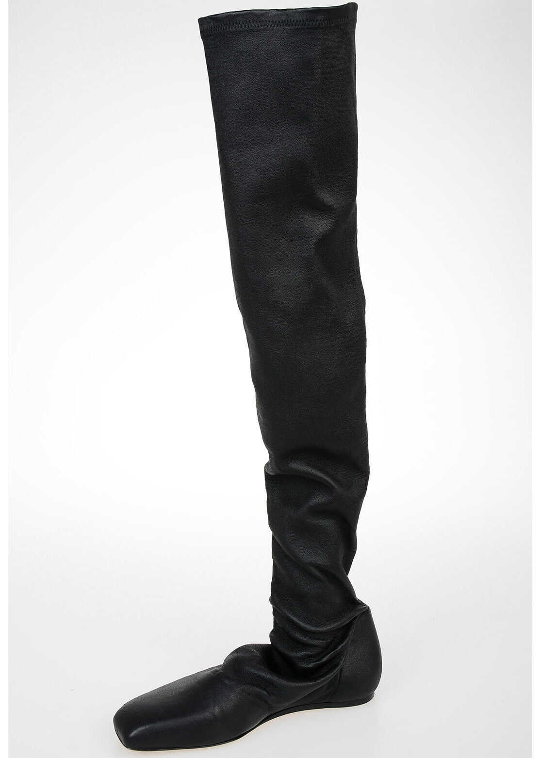 Rick Owens Leather STOCKING Boots BLACK