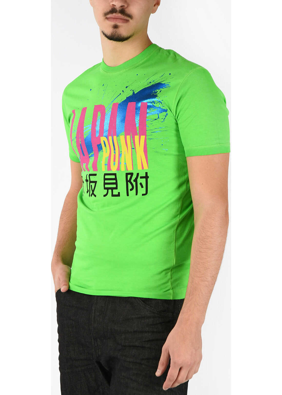 DSQUARED2 Fluo DEAN FIT T-shirt GREEN