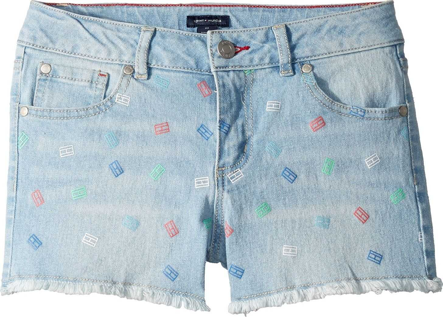 Denim Shorts with Panel Print in Bowery Blue (Little Kids/Big Kids)