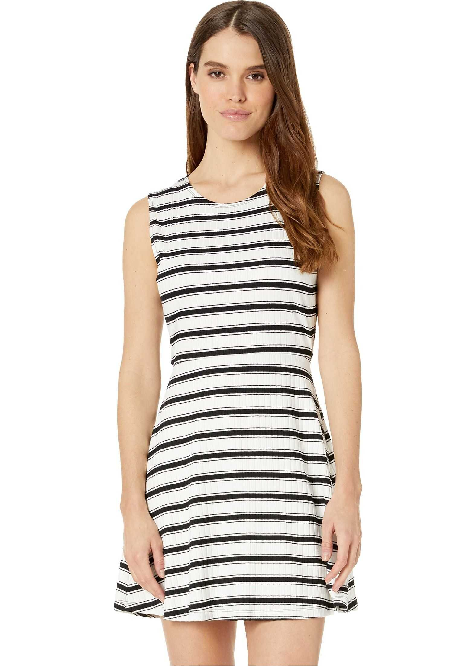 Volcom Stone Stripe Dress Black/White