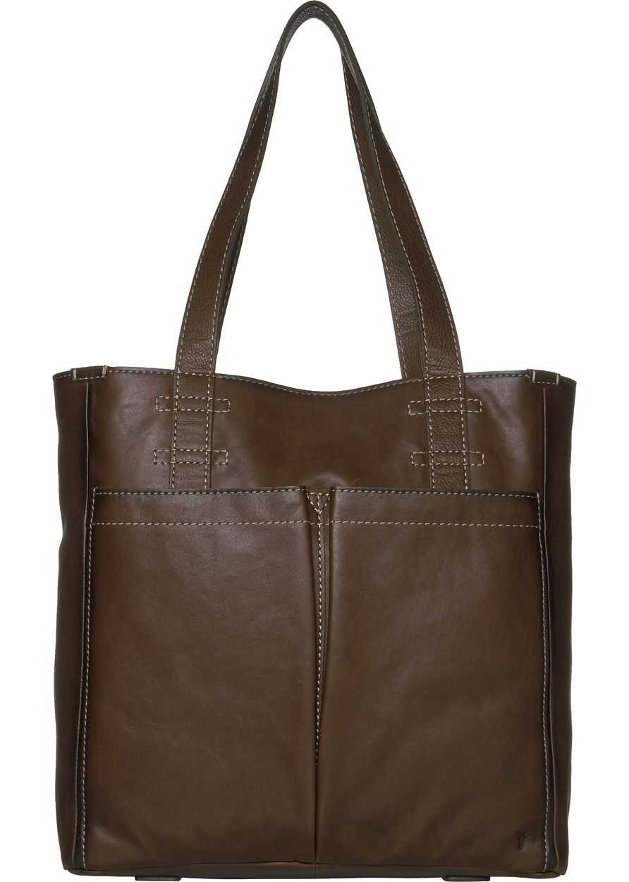 Frye Mindy Pocket Tote Stone