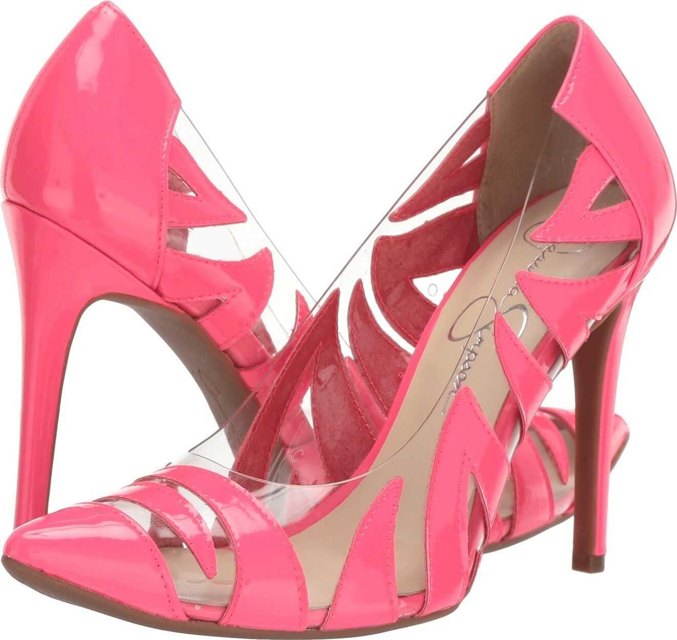 Jessica Simpson Palmra Neon Pink Moda Patent