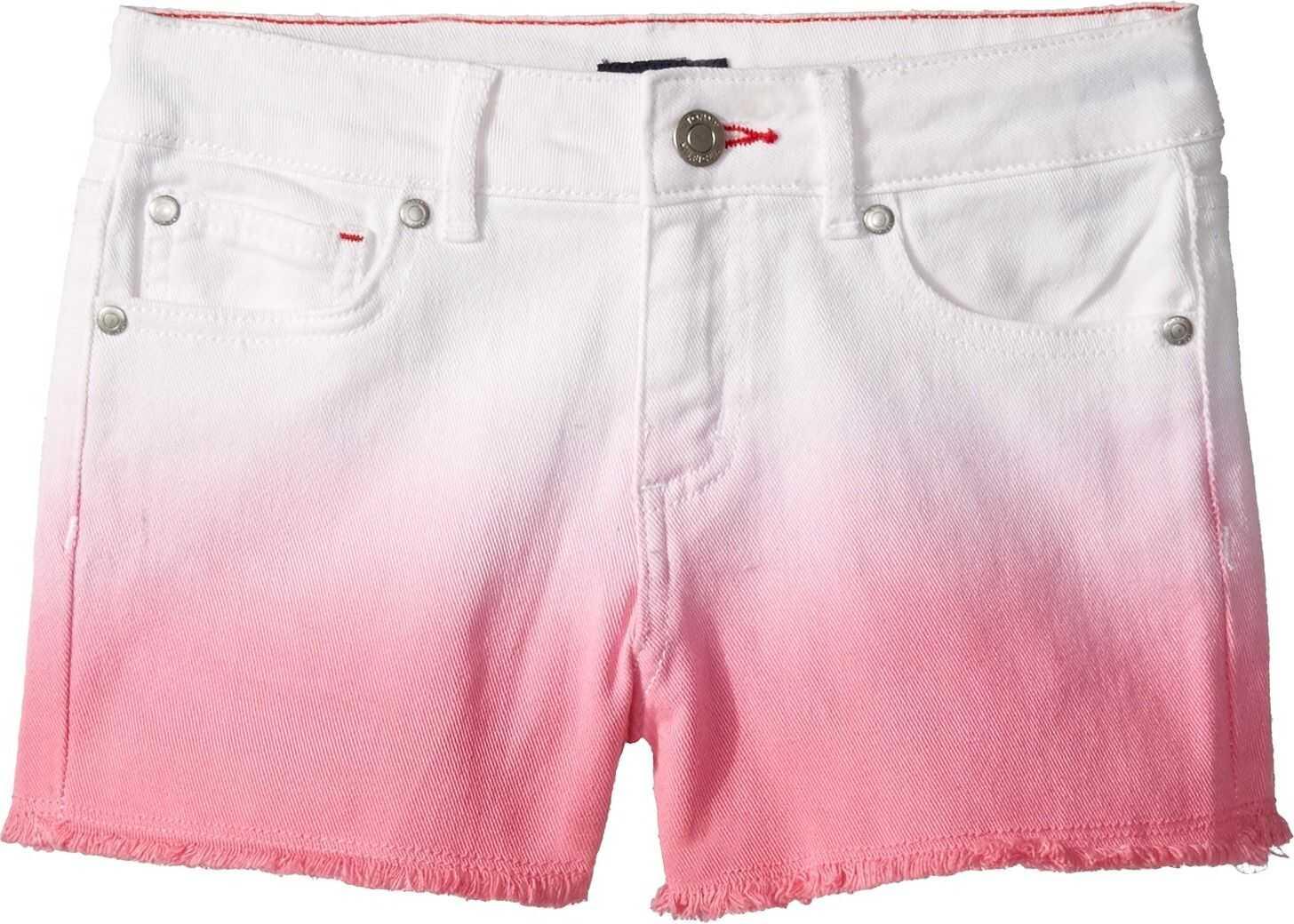 Dip-Dyed Denim Shorts in Pink Carnation (Little Kids/Big Kids)