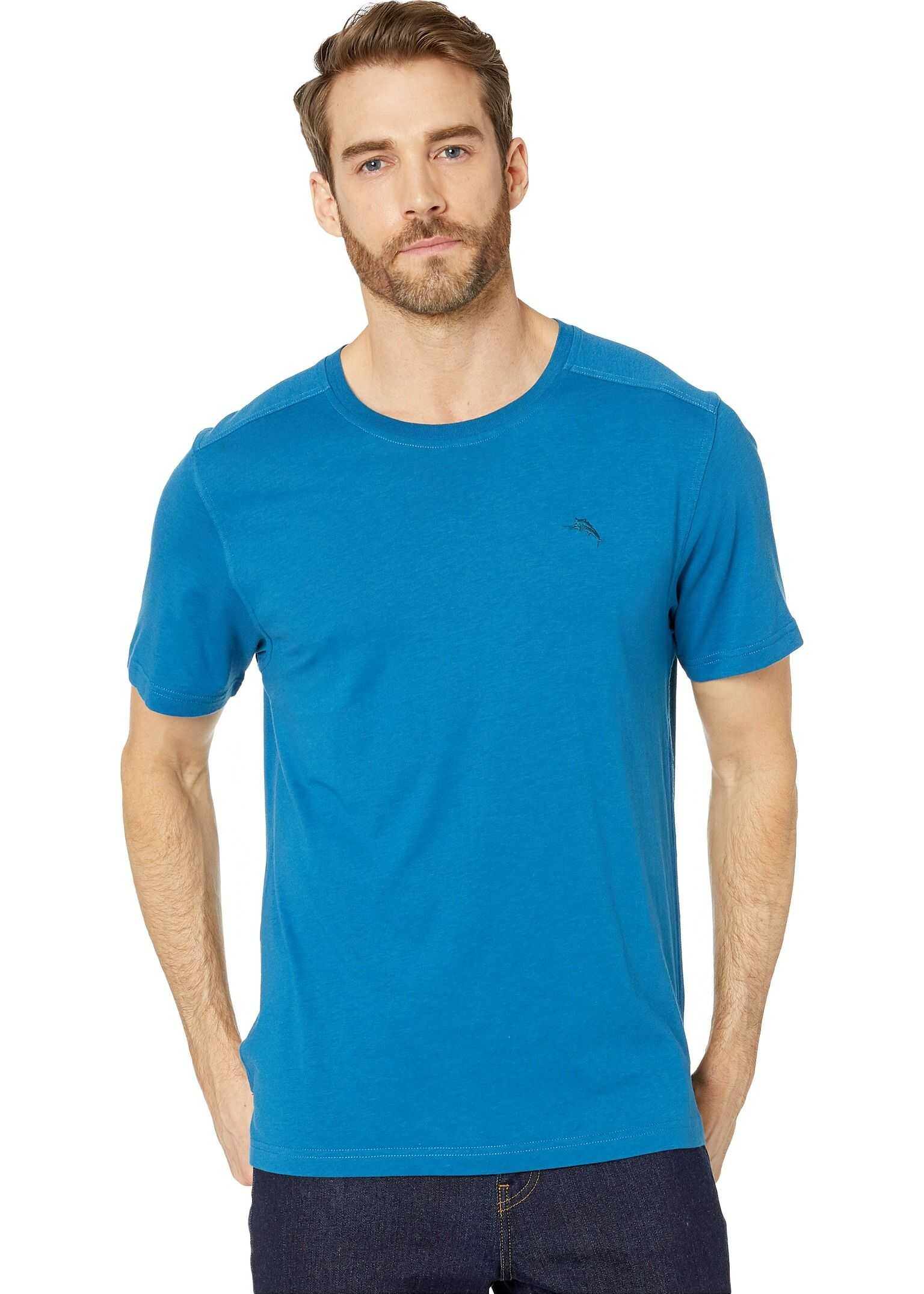 Tommy Bahama Cotton Modal Knit Jersey T-Shirt Blue/Allure